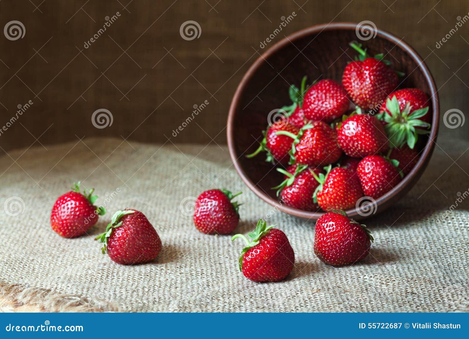 Alimento biológico sano natural de la nutrición de la fresa