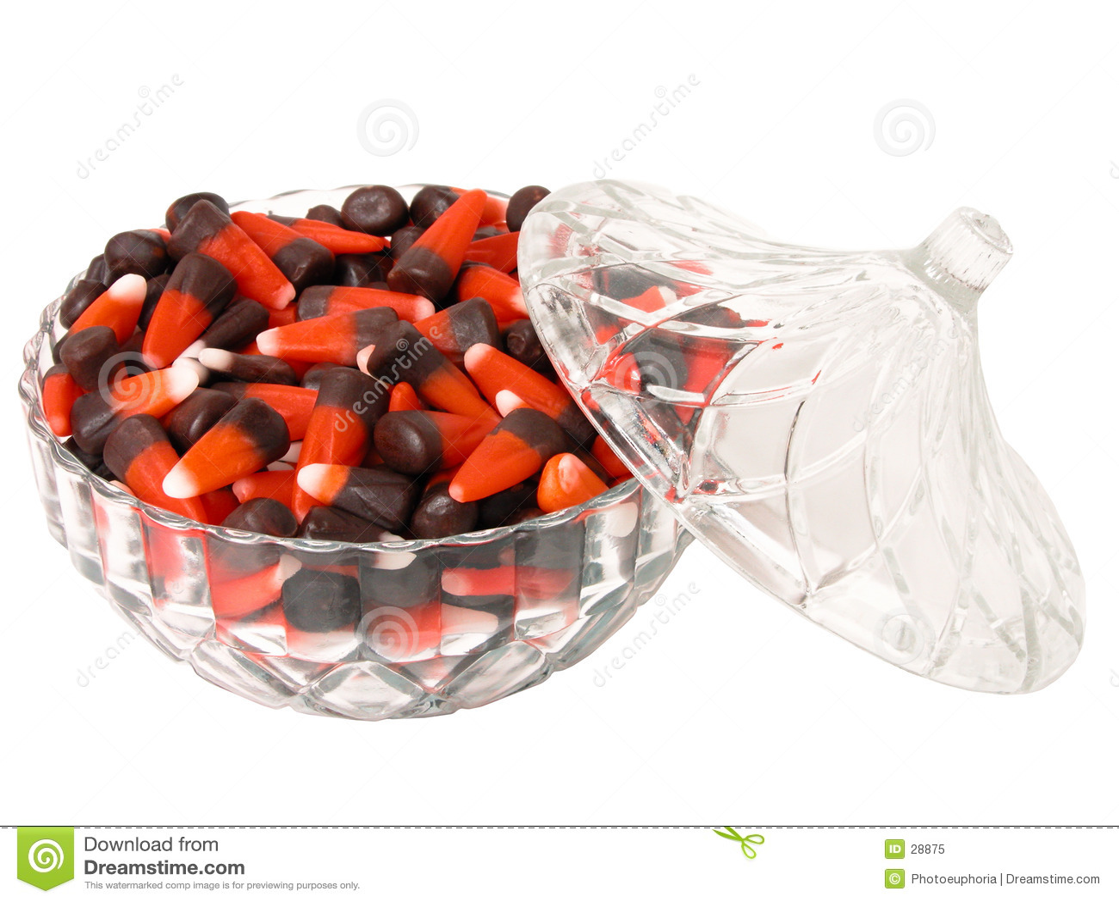 Alimento: Caramelo del maíz indio en un plato de cristal decorativo