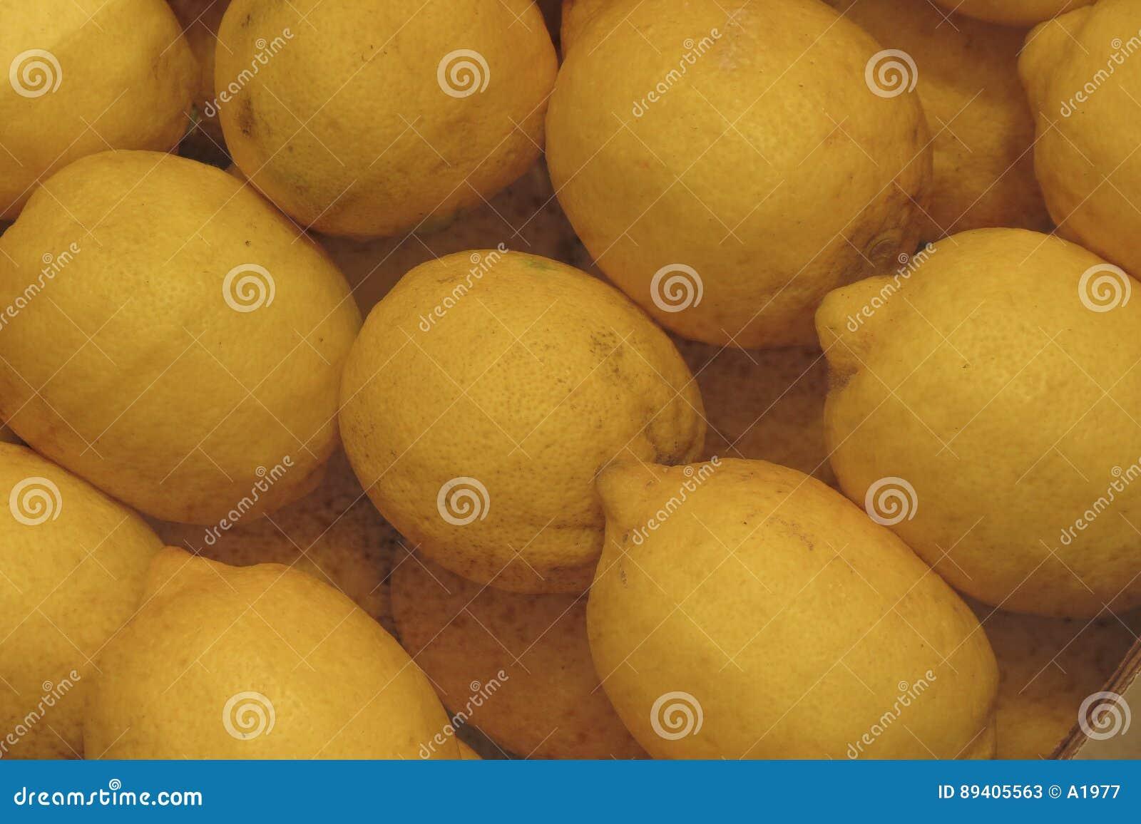 Alimento cor de limão dos citrinos