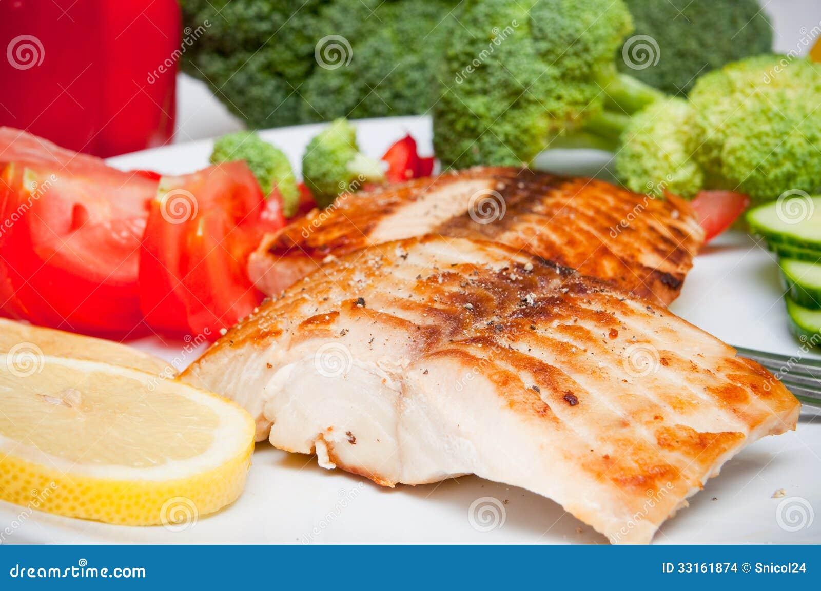 Alimento da dieta dos salmões
