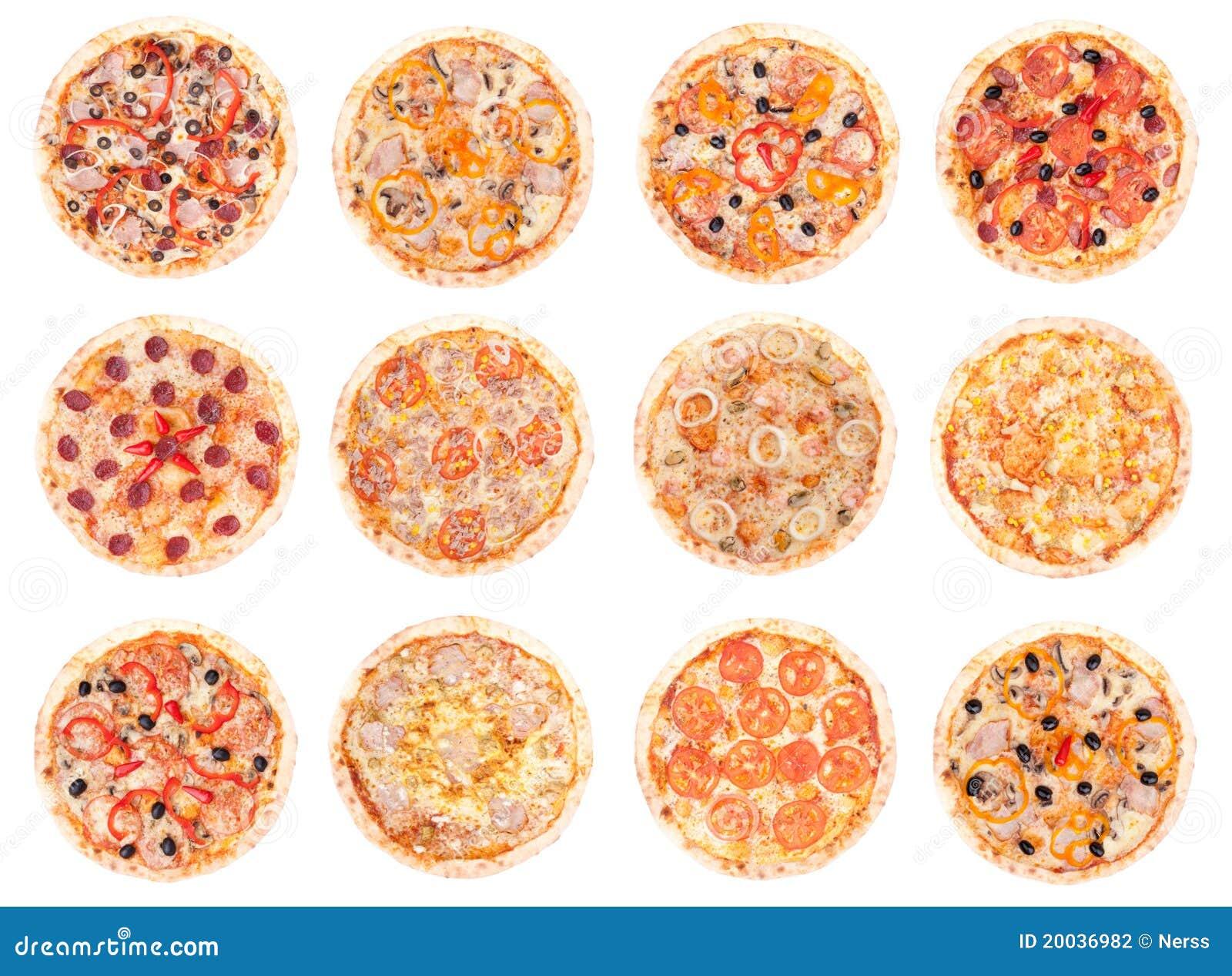 Alimento da pizza todas as pizzas