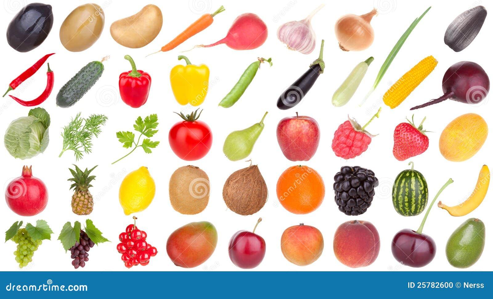 Alimento de las frutas y verdura
