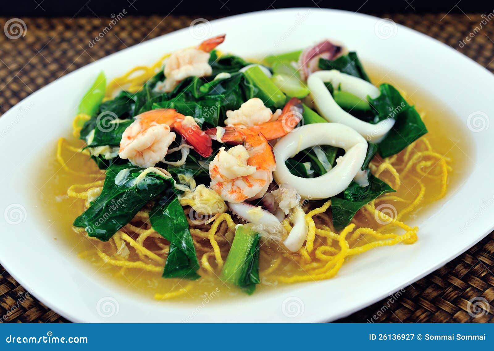 Alimento de mar de los tallarines de arroz