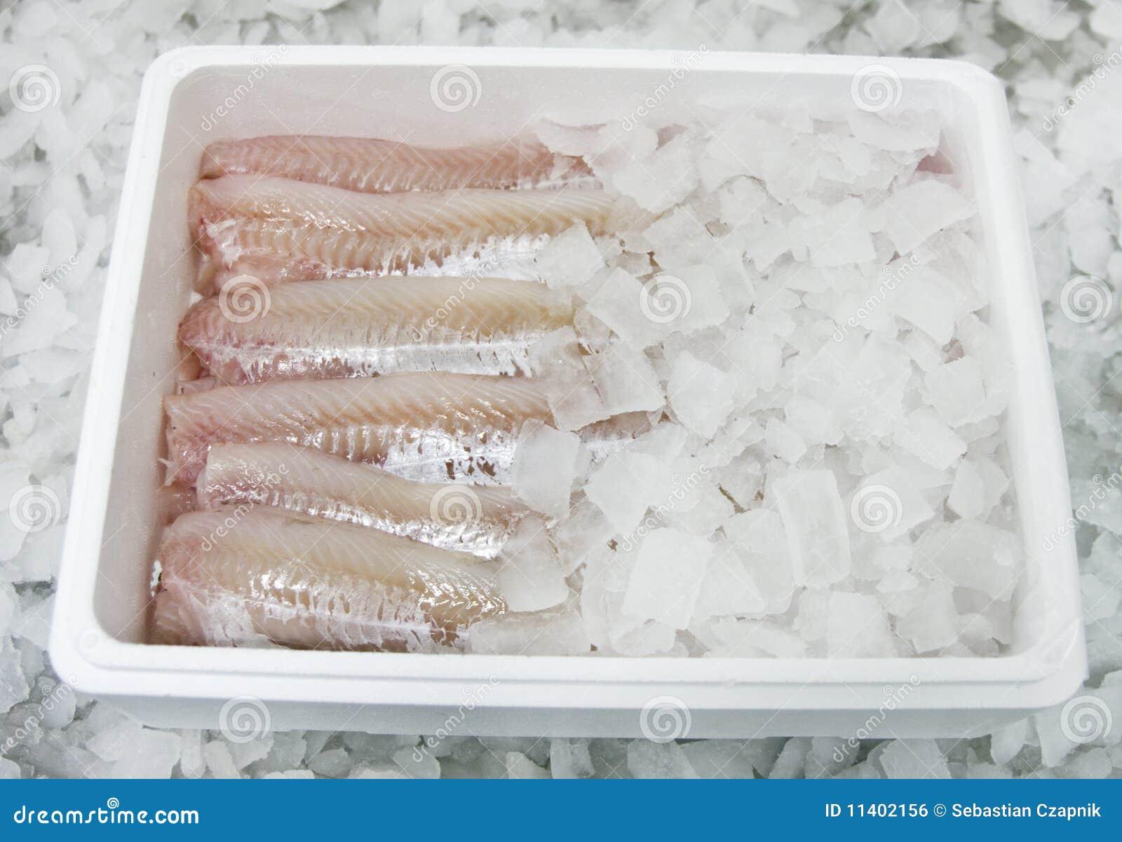 Alimento de peixes na caixa