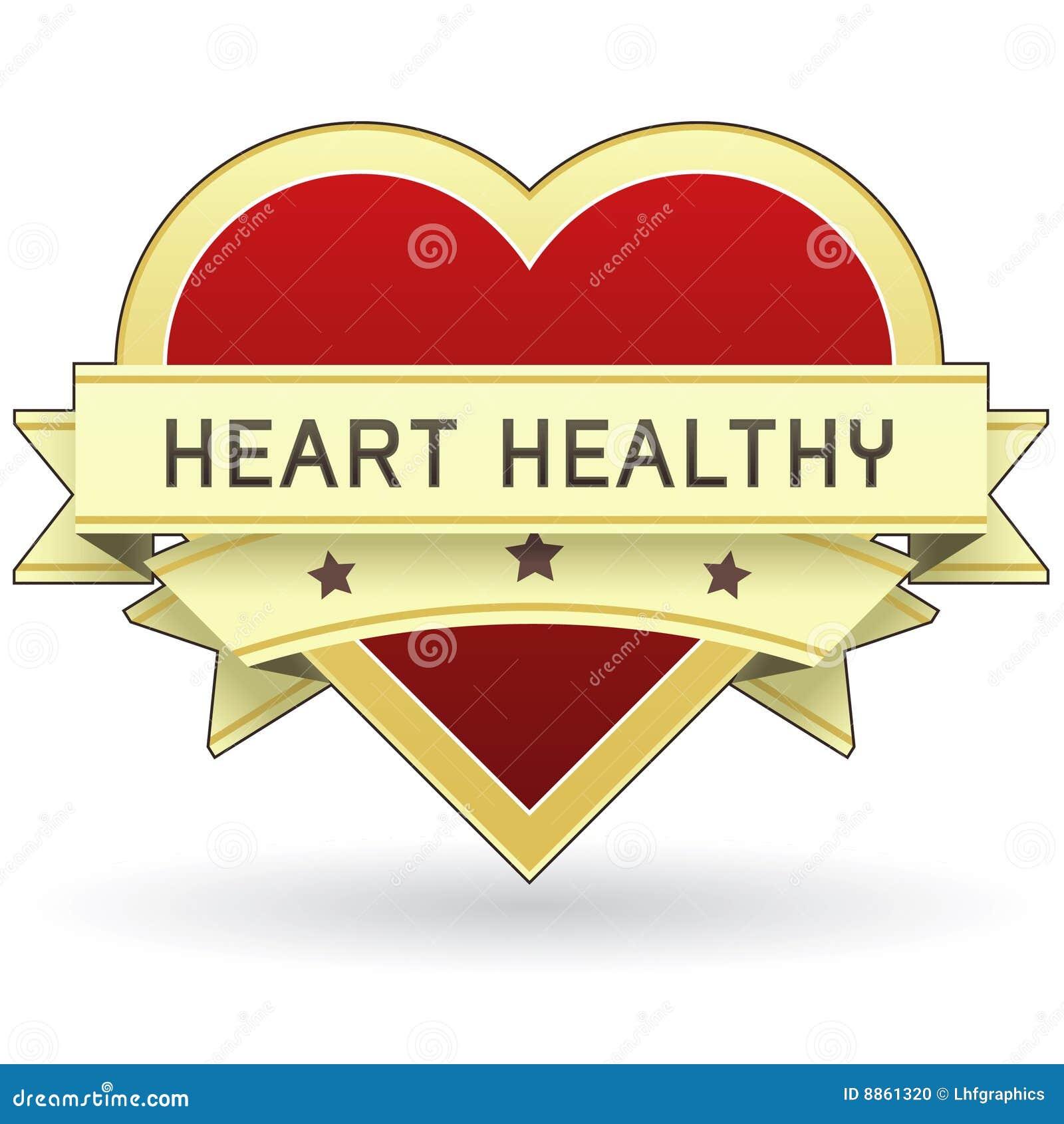 Alimento del cuore e contrassegno o autoadesivo sano del prodotto