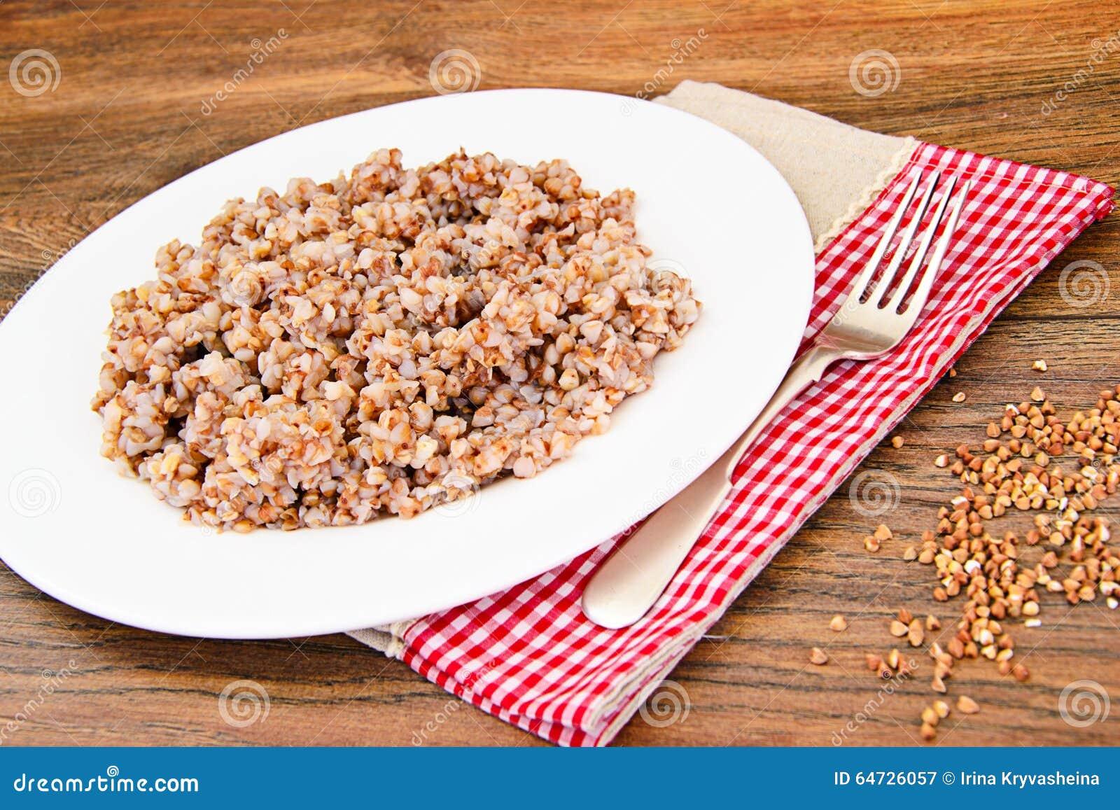 Alimento di dieta del grano saraceno