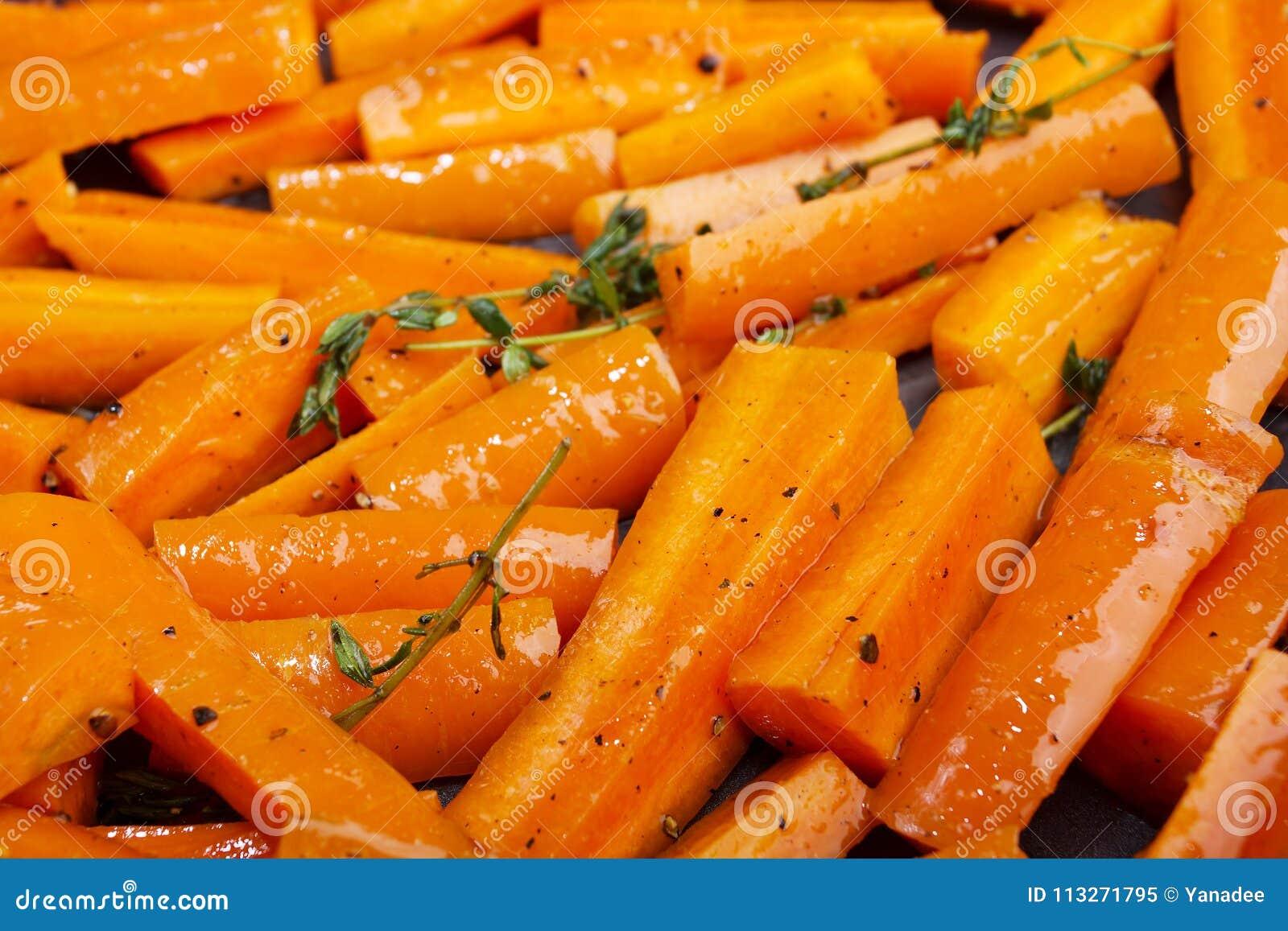 Alimento dietético saudável Cenouras Roasted