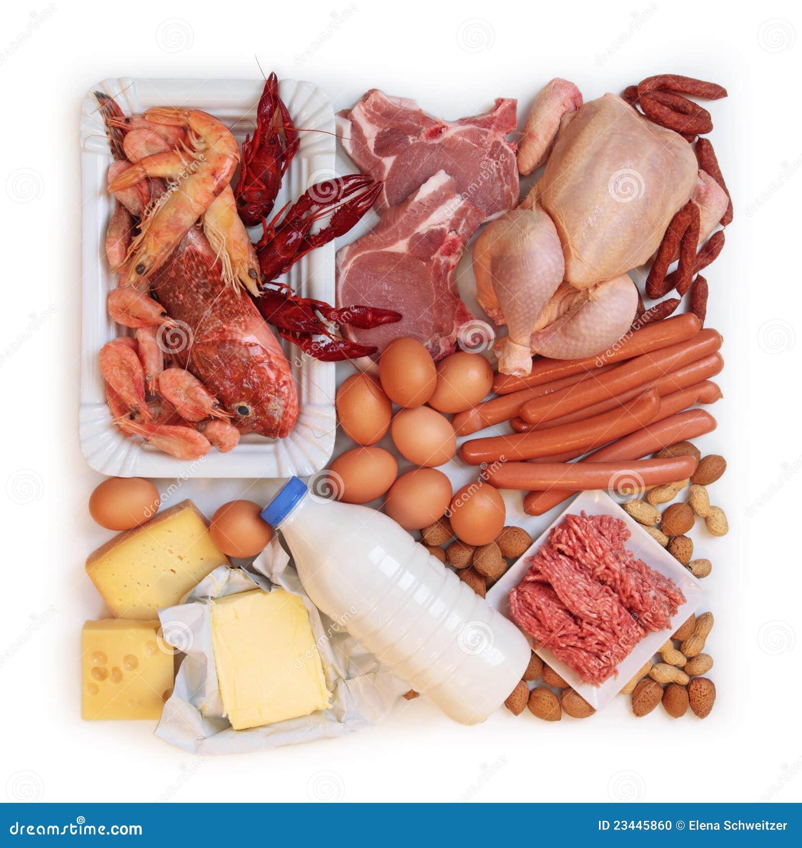 Alimento elevado na proteína