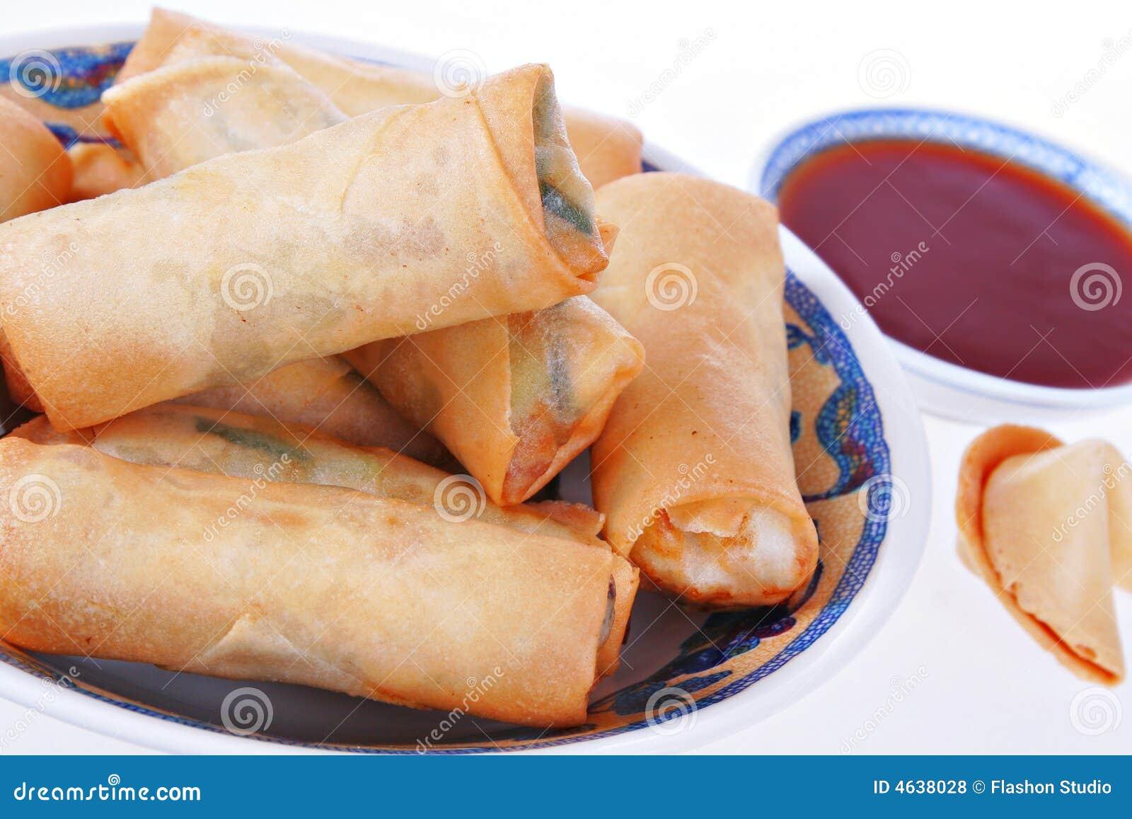 Alimento fresco del cinese tradizionale delle lumpie