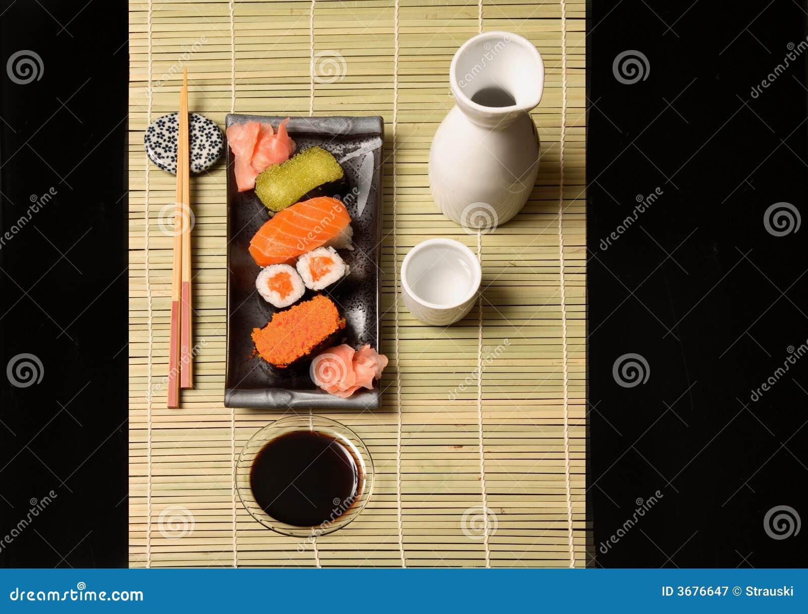 Download Alimento giapponese immagine stock. Immagine di sushi - 3676647