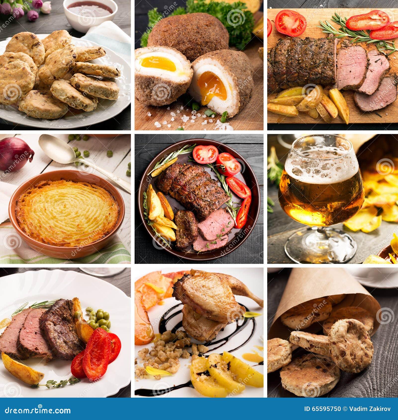 Alimento Inglese Tradizionale Fotografia Stock - Immagine di pranzo ...