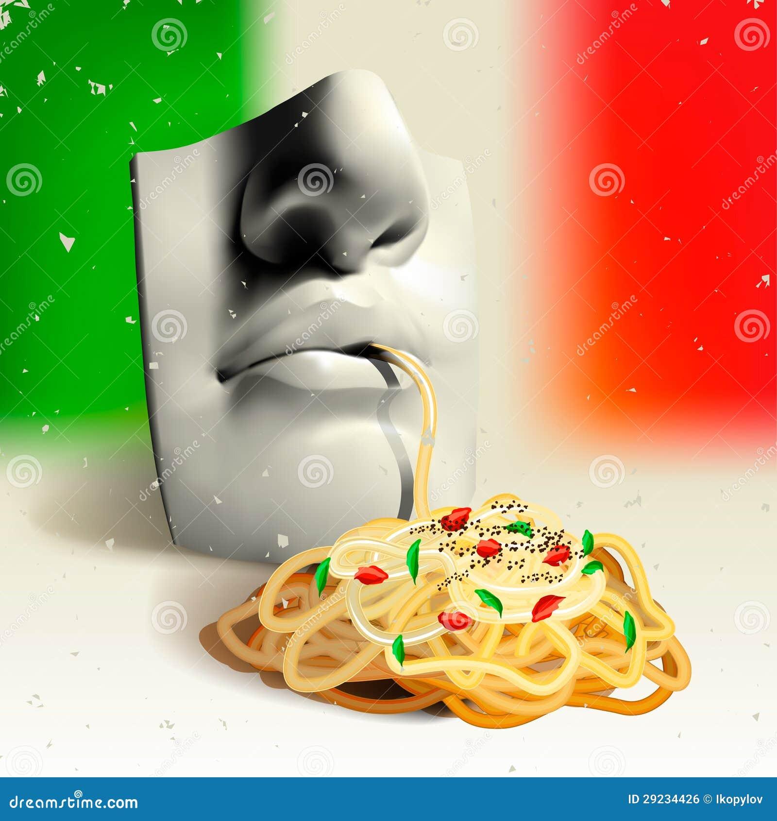 Download Alimento Italiano - Conceito Ilustração Stock - Ilustração de receita, italy: 29234426