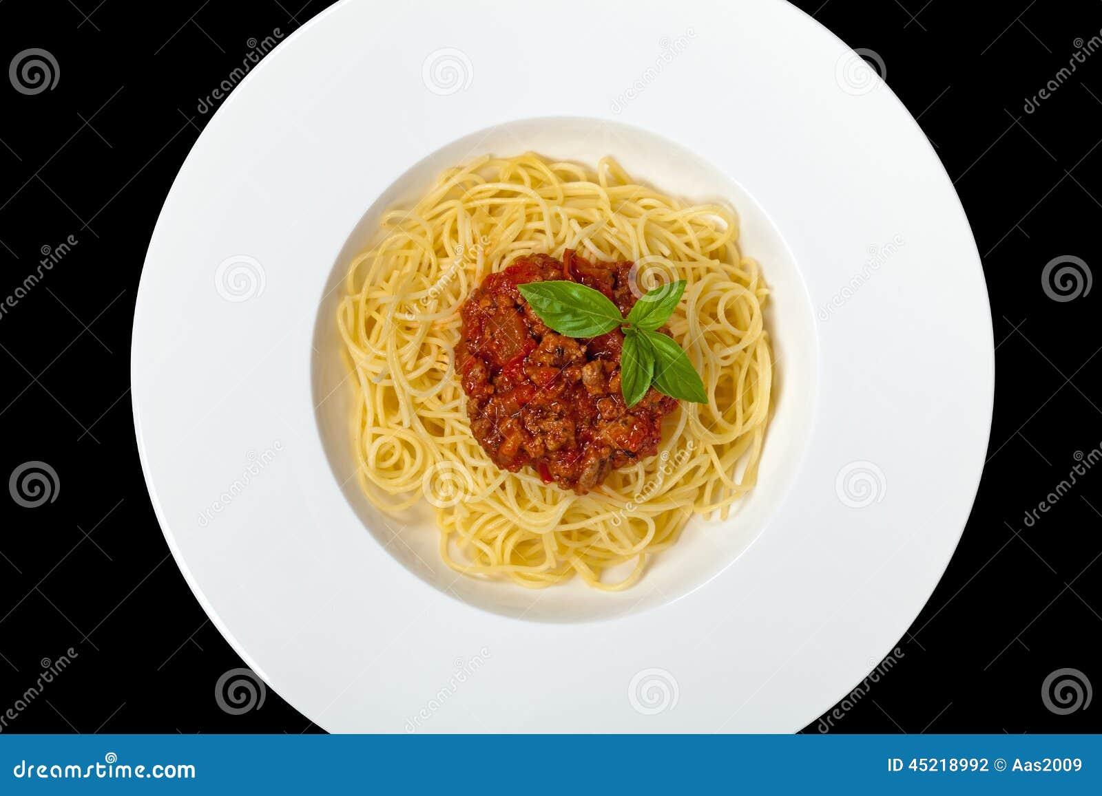 Alimento italiano Espaguete bolonhês