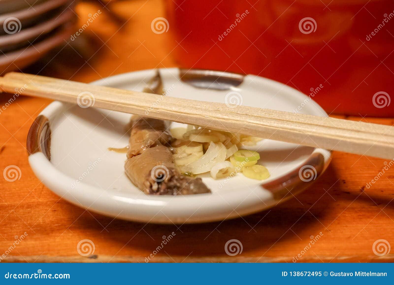Alimento japenese tradizionale dell anguilla di Edo
