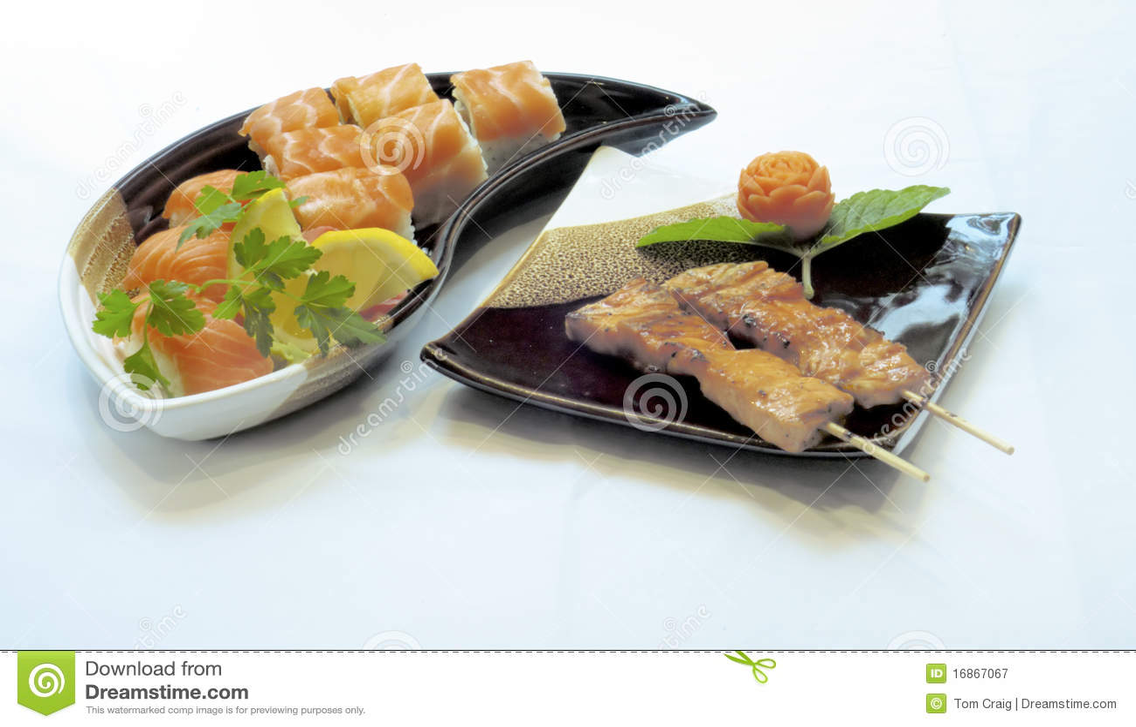Alimento japonês, sushi Maki