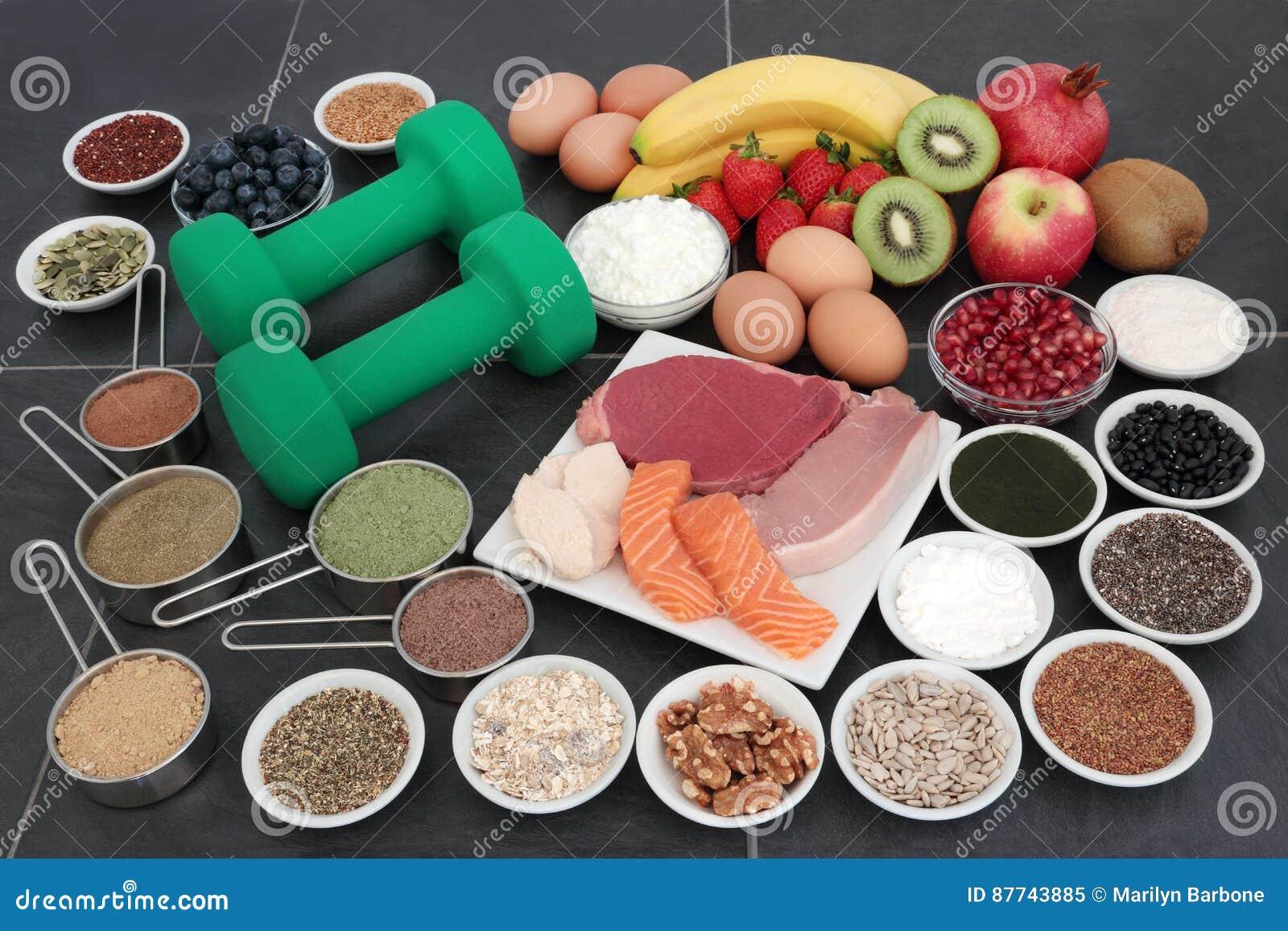 Alimento natural para construtores de corpo