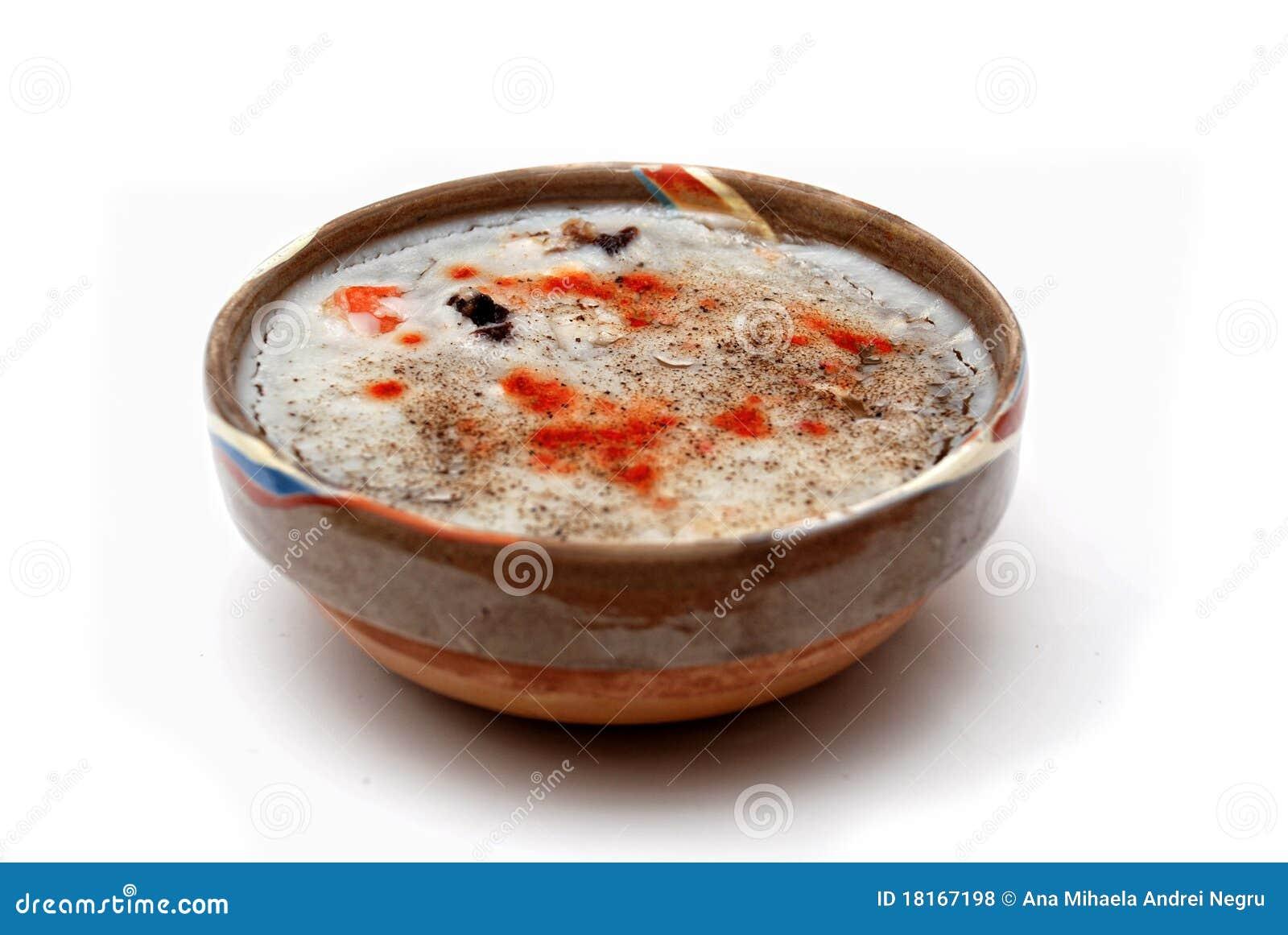 Alimento romeno tradicional nomeado piftie