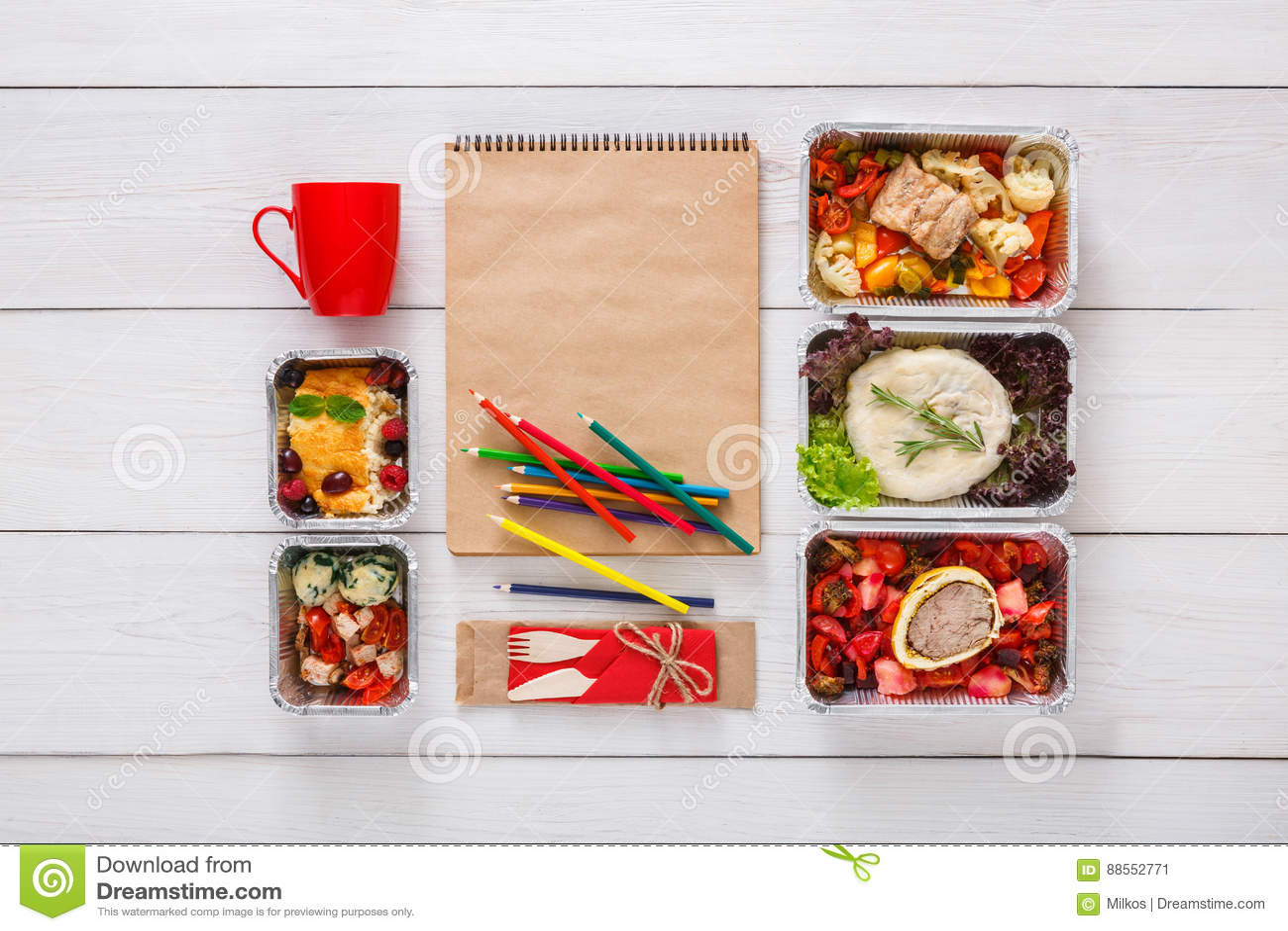 pranzo del piano di dieta