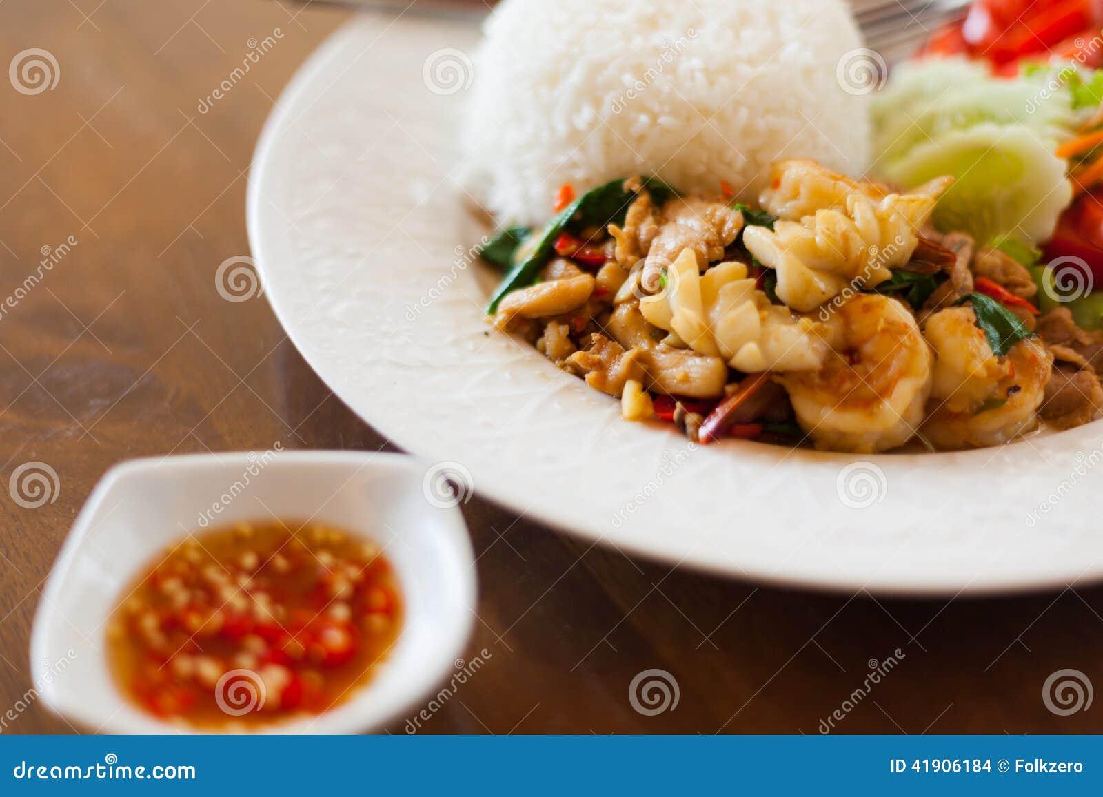 Alimento tailandés - fritada #6 del Stir