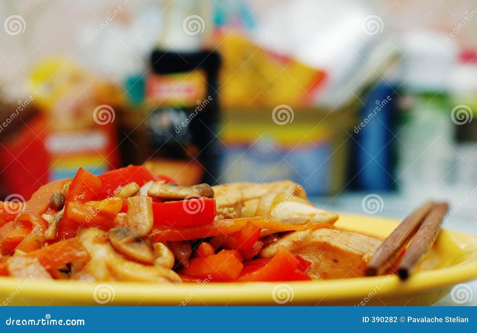 Alimento tailandês - fritada #0 do Stir