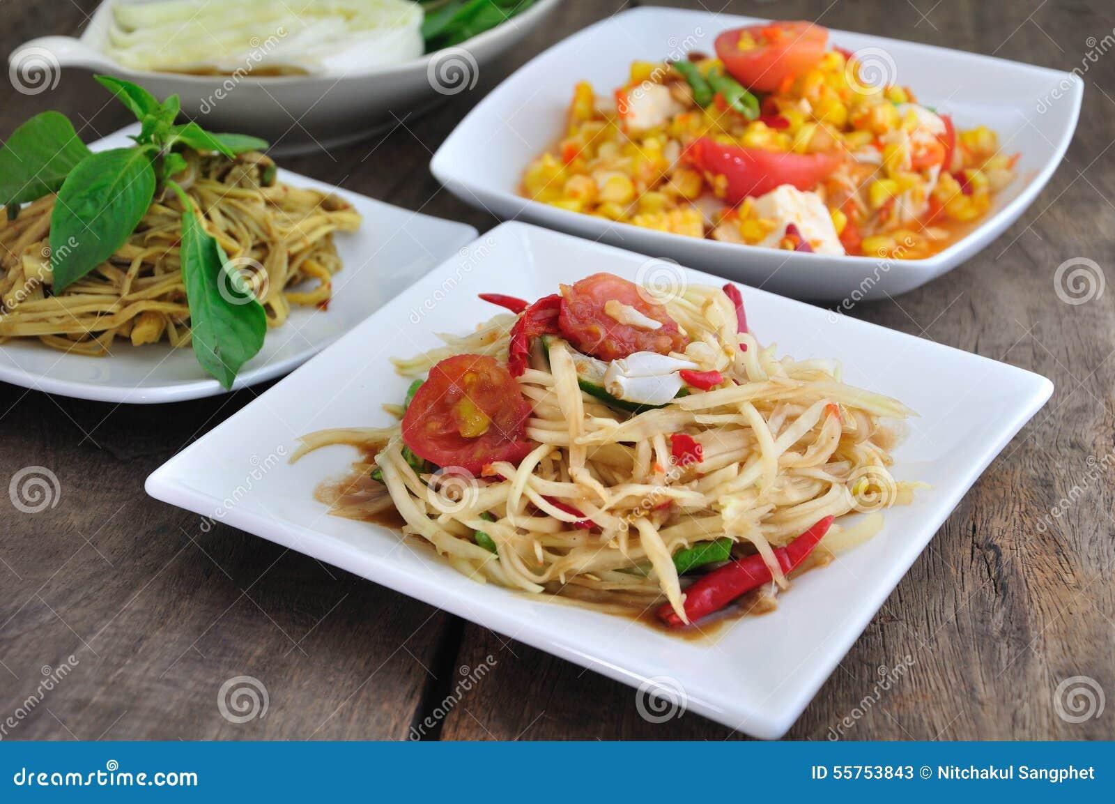 Alimento tailandese piccante
