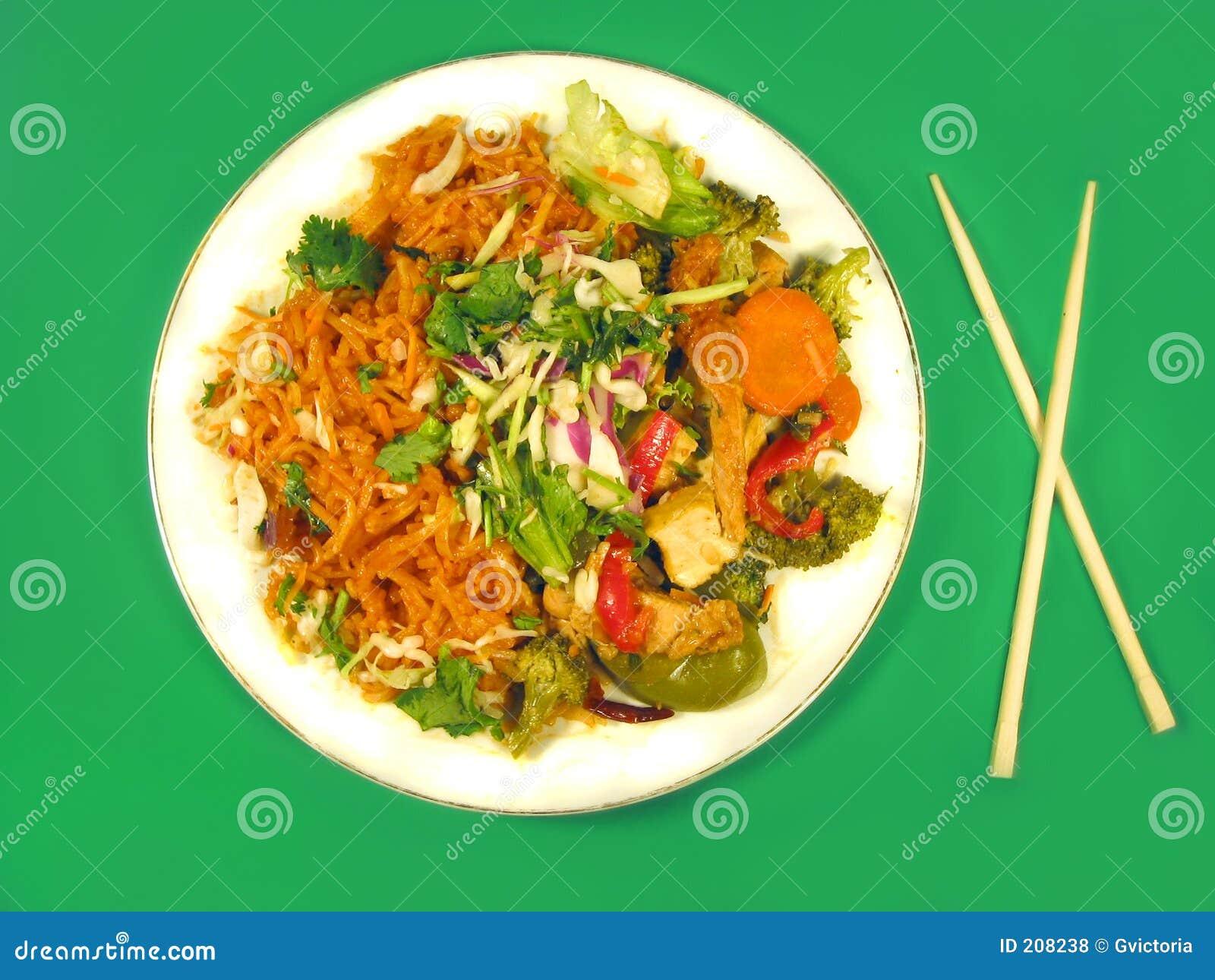 Alimento tailandese squisito