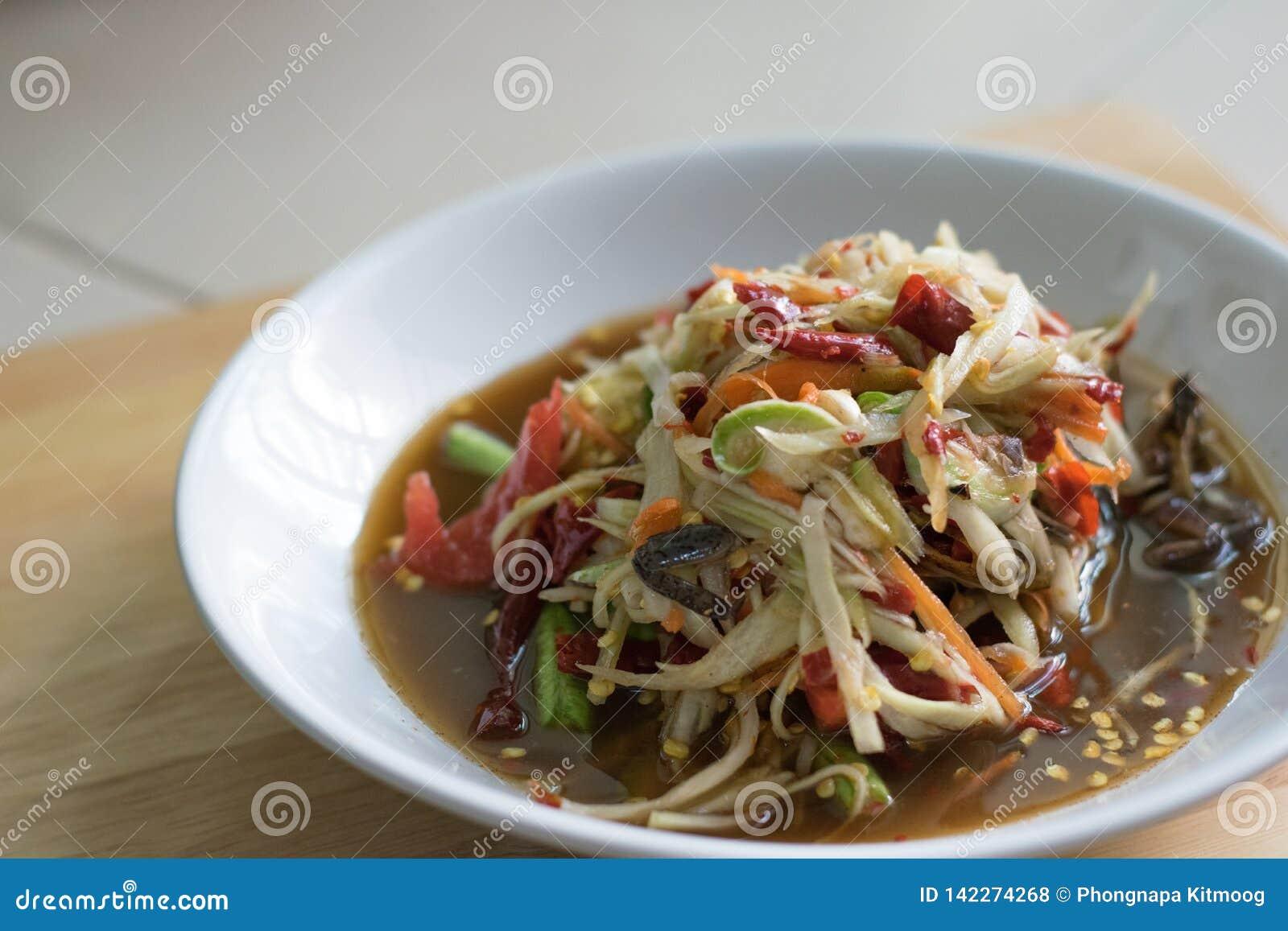 Alimento tradicional ou tailandês tailandês