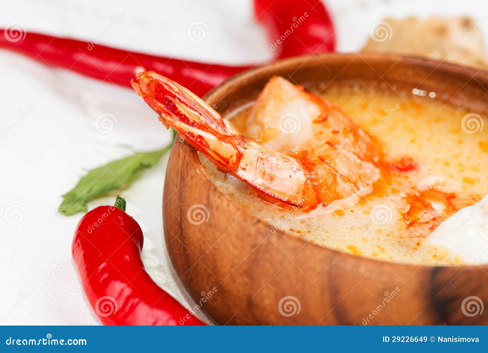 Download Alimento Tradicional Tailandês Quente E ácido Tom Yum Da Sopa E Do Camarão Imagem de Stock - Imagem de calor, jantar: 29226649