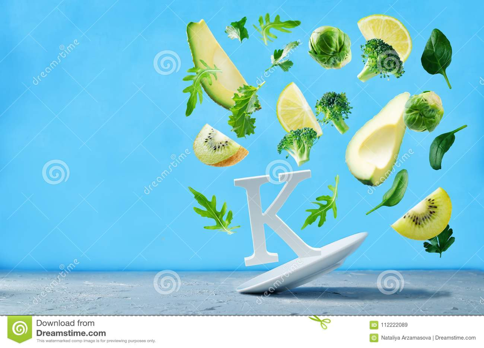 Alimentos do voo ricos na vitamina k Vegetais verdes