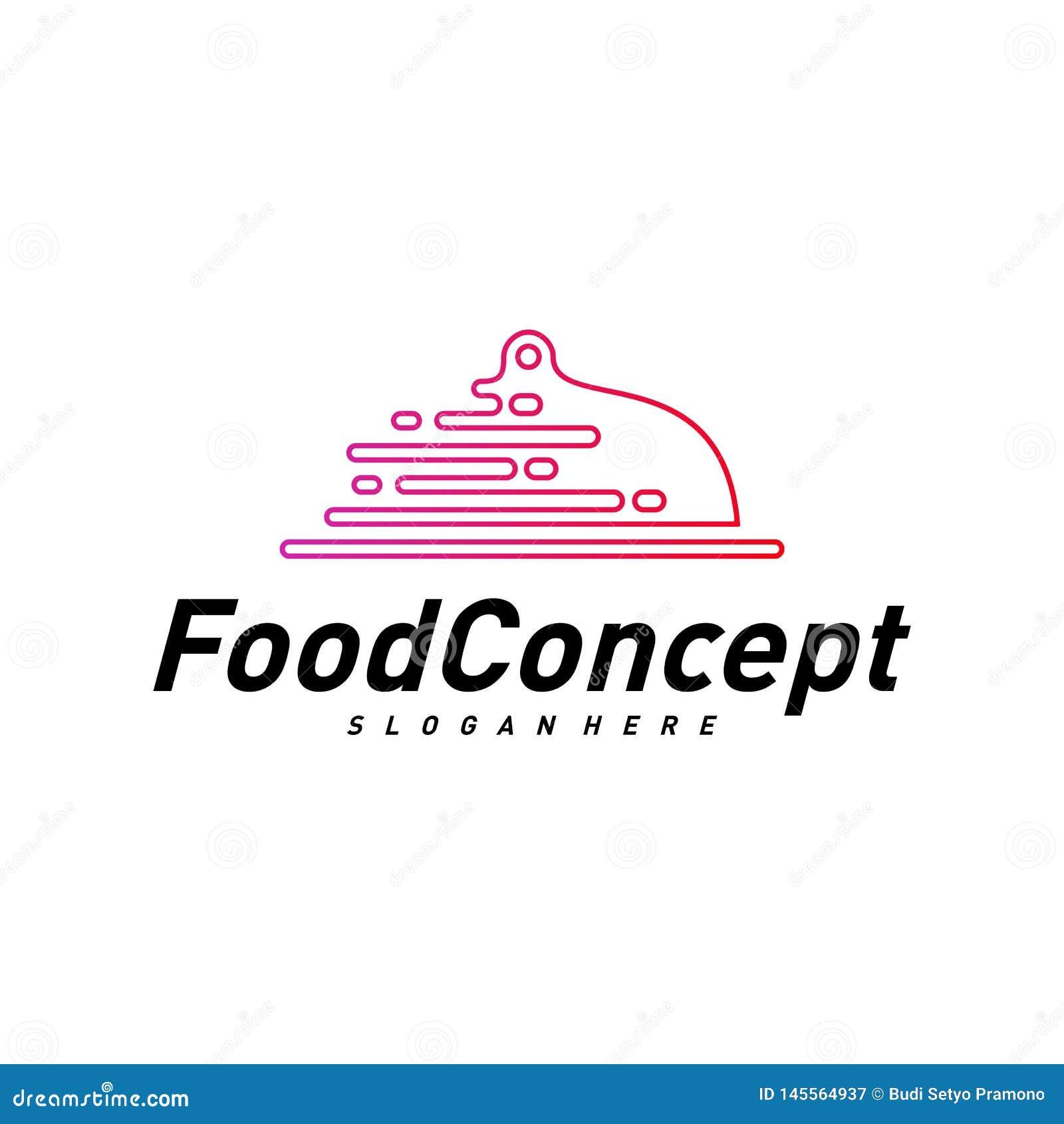 Aliments de pr?paration rapide Logo Concept Vector Cuisson du vecteur de calibre de conception de logo Symbole d ic?ne