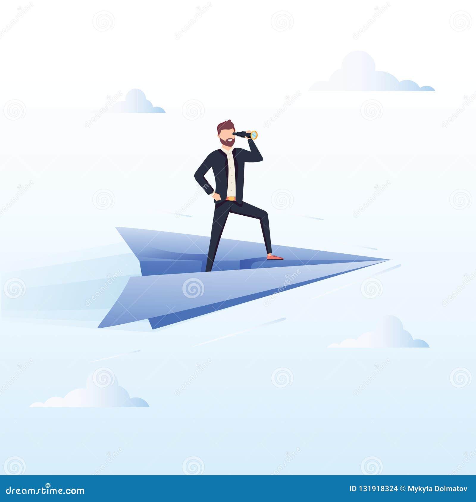 Aliste para volar Ejemplo del concepto del vector del negocio