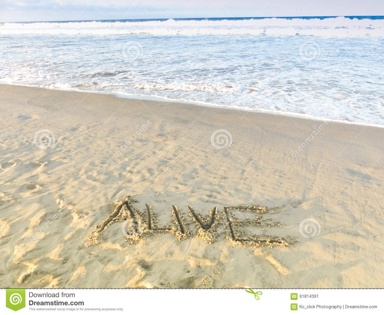 Alive Draw On Sandy Beach With Ocean Waves Inspirational Sand Word