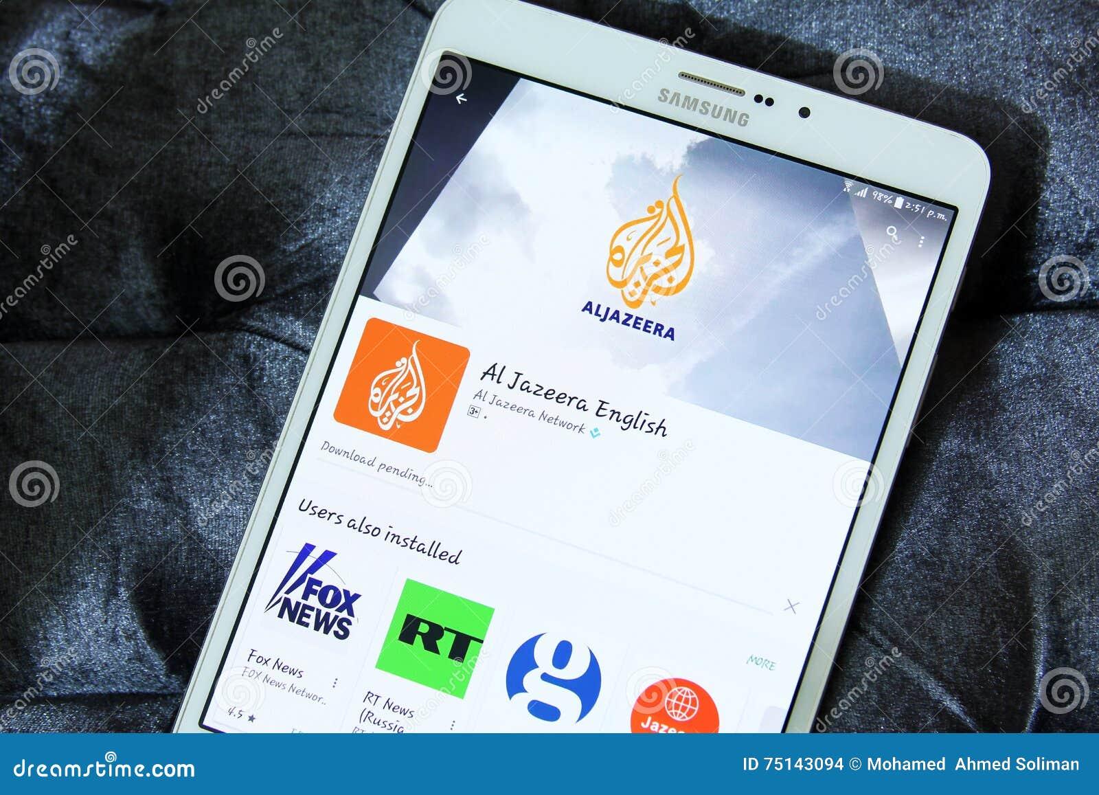 Aljazeera english app logo editorial stock image  Image of