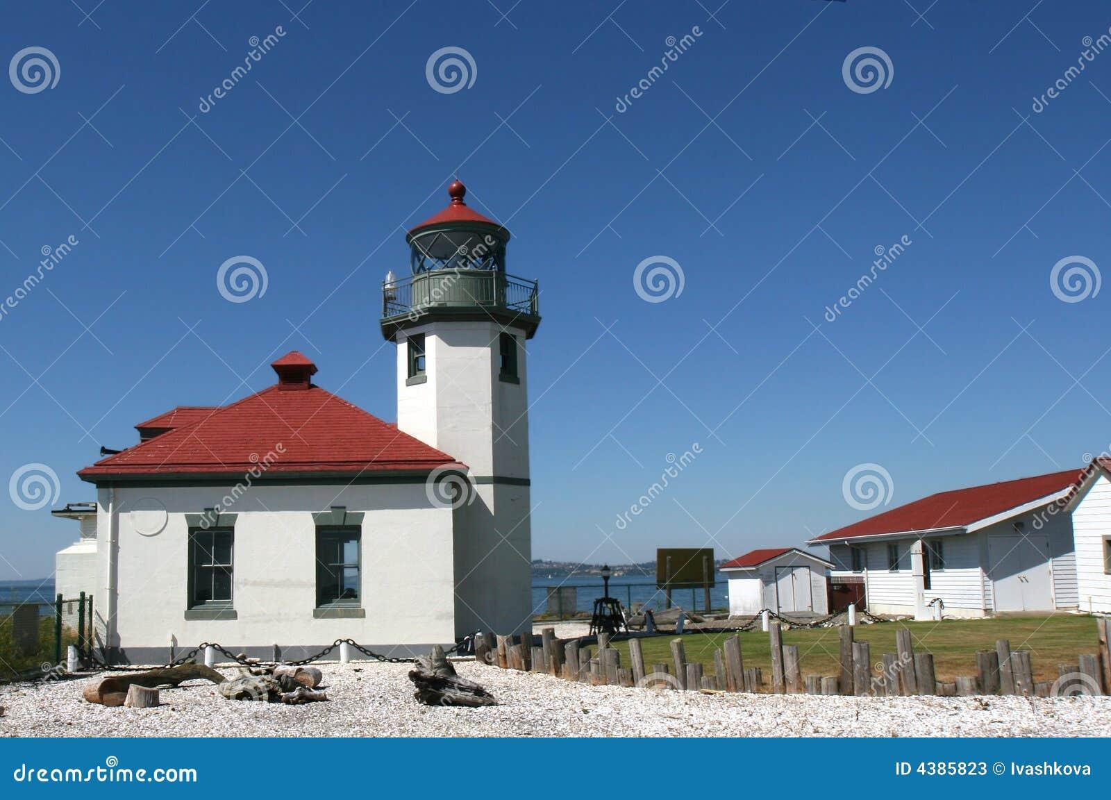 Alki beach lighthouse