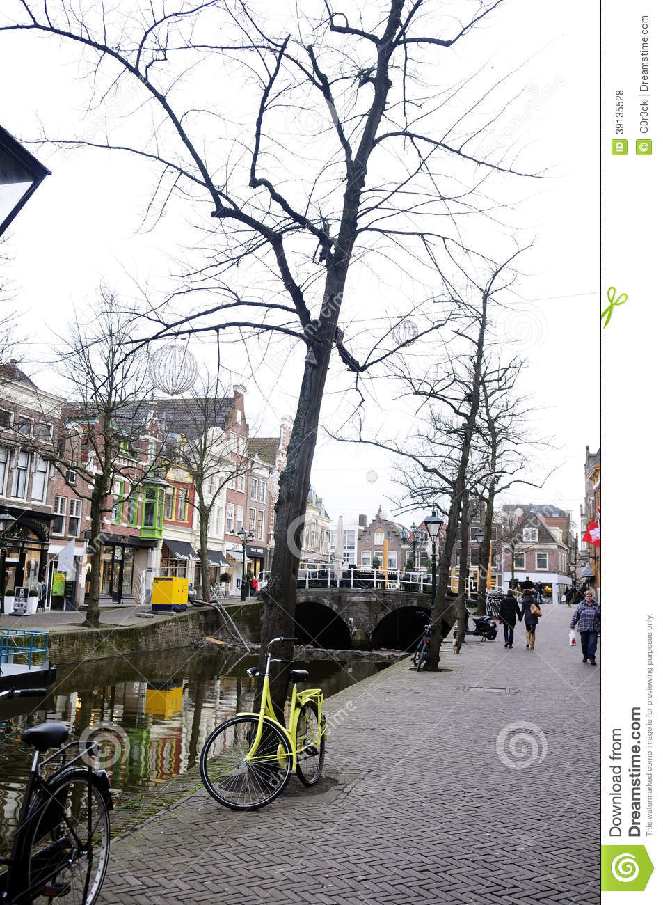 Alkmaar Street, Netherlands - Winter Day - Dutch City