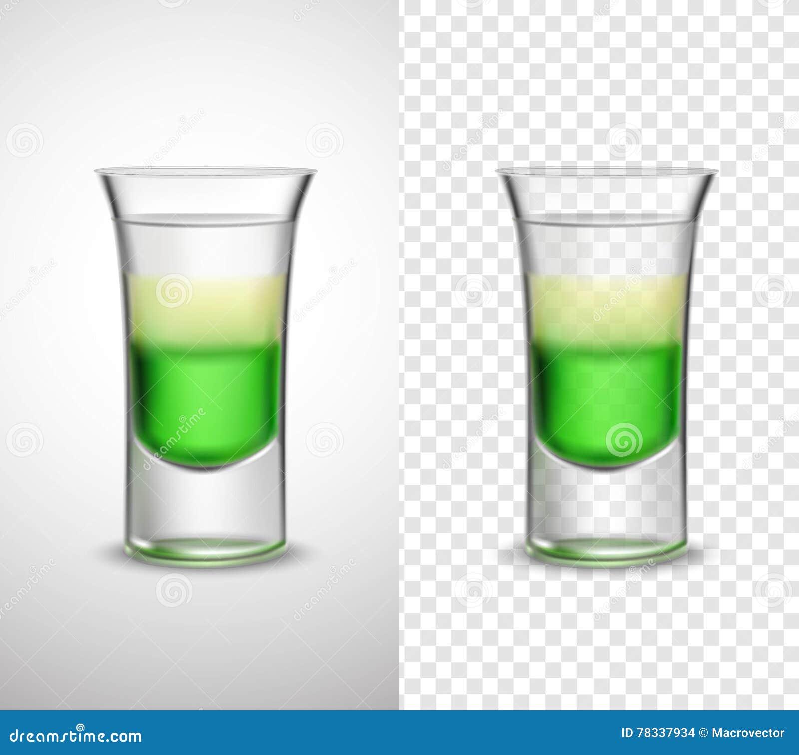 Alkohol-Getränke Färbten Glaswaren-transparente Fahnen Vektor ...