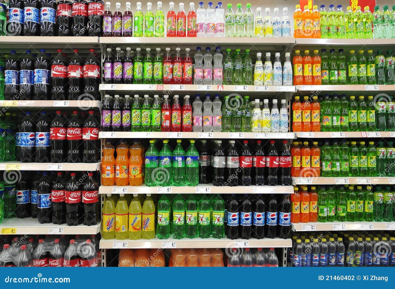 Alkoholfreie Getränke Und Getränke Im Supermarkt Redaktionelles ...