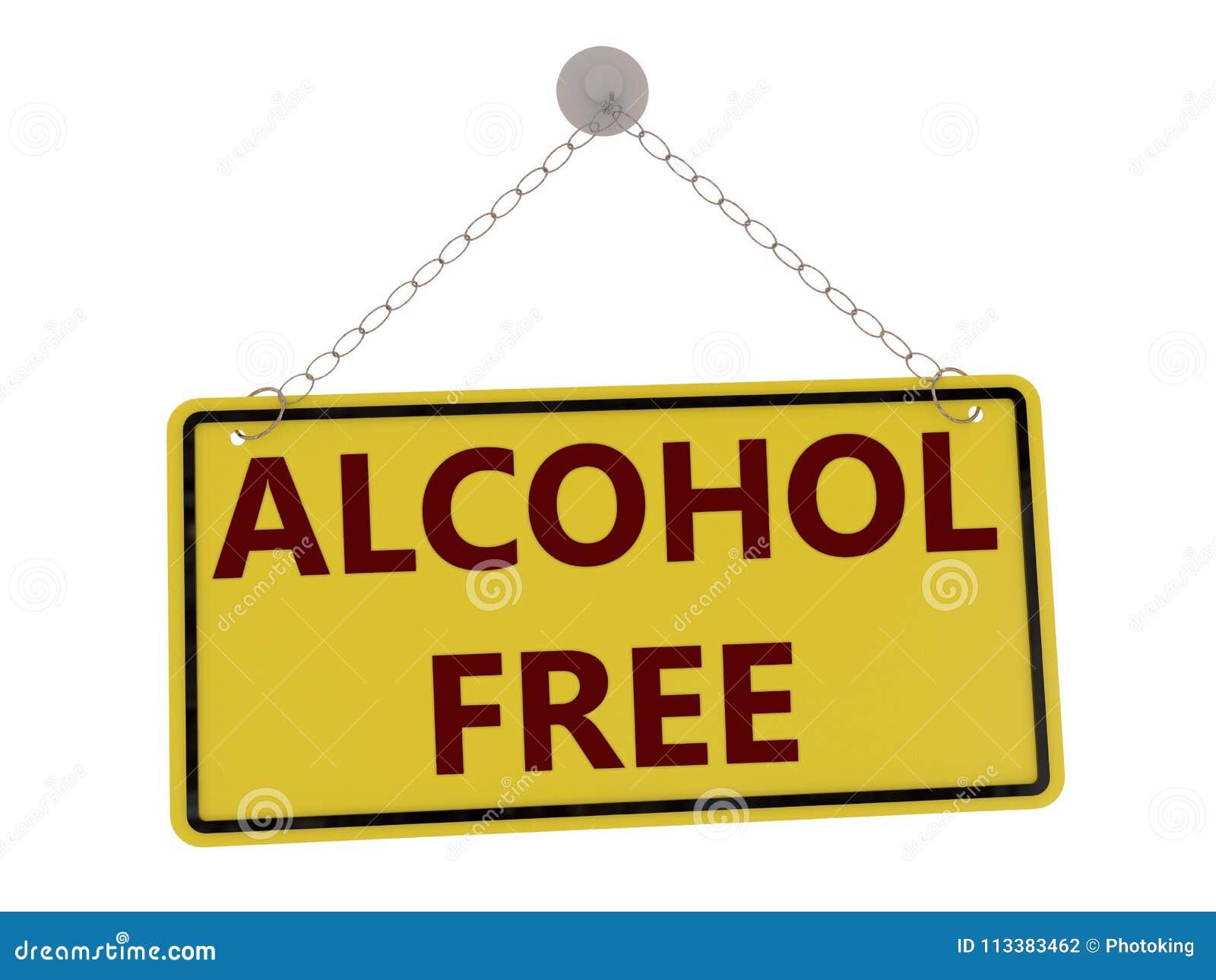 Alkoholfreies Zeichen