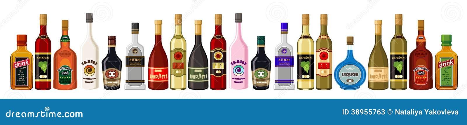 Alkoholische Getränke Der Fahne. Vektor Abbildung - Illustration von ...