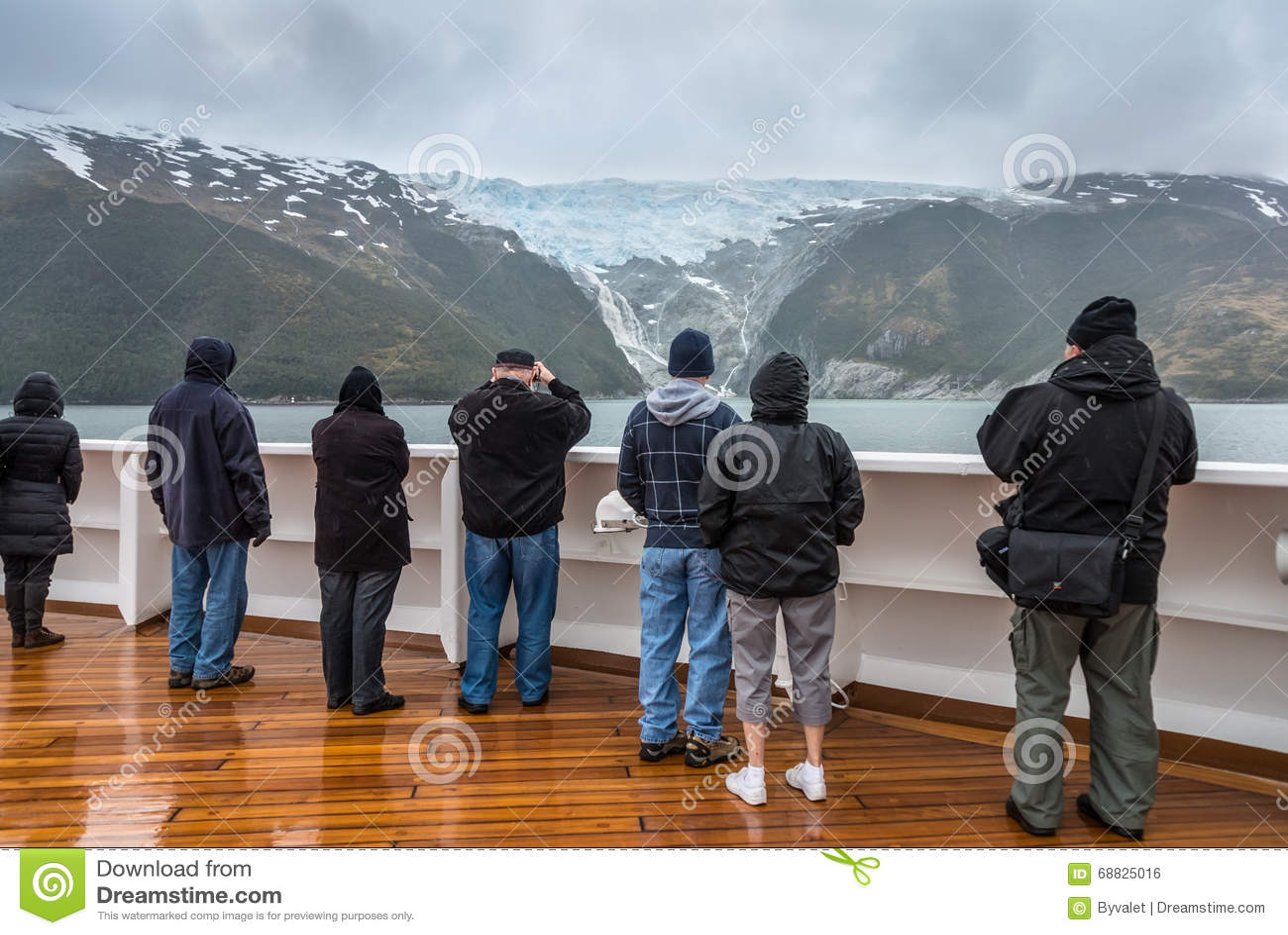 Allée de glacier, la Manche de briquet, Chili