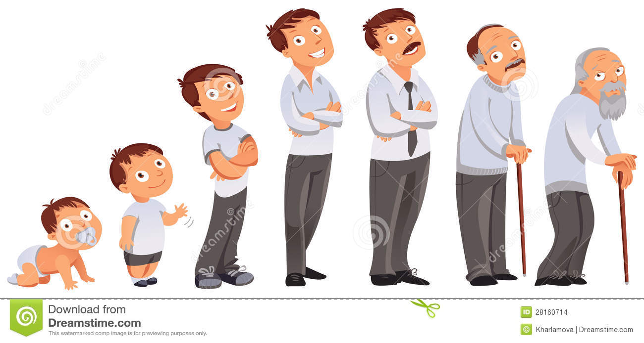 All Age Categories Stock Vector. Illustration Of Cartoon ...