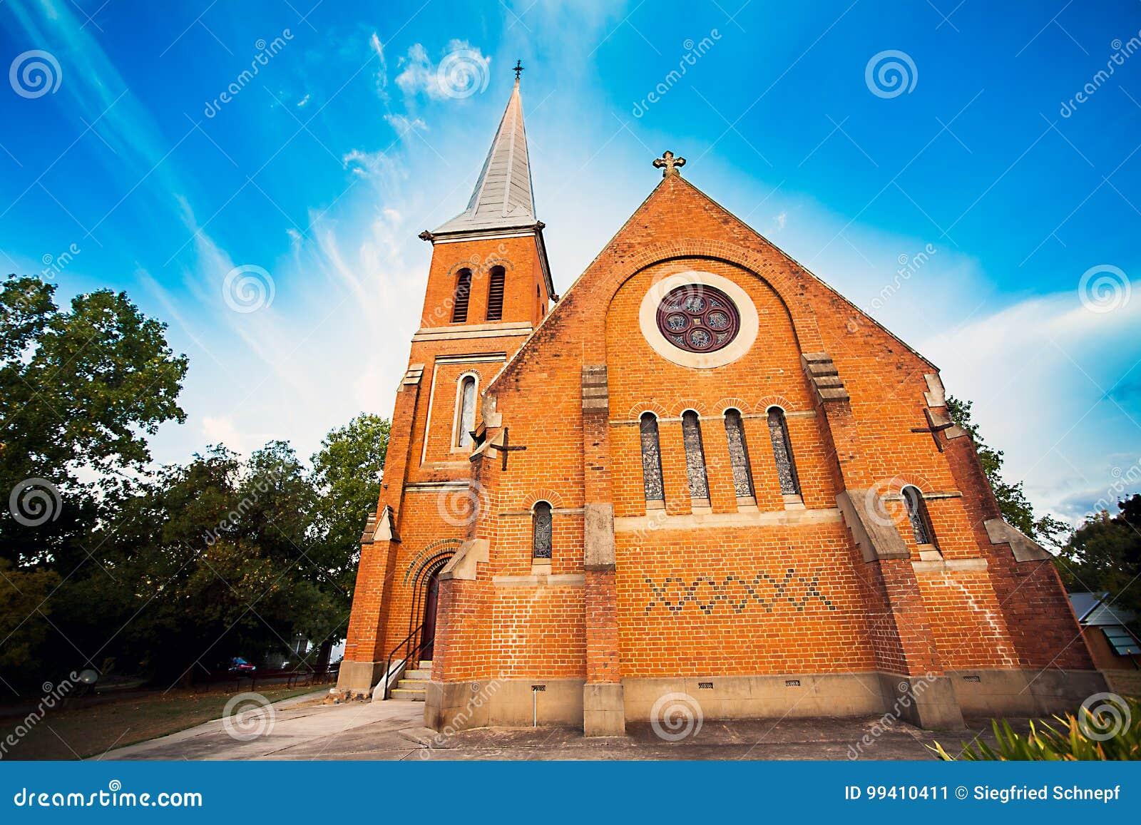 All anglikansk kyrka Tumut Australien för helgon