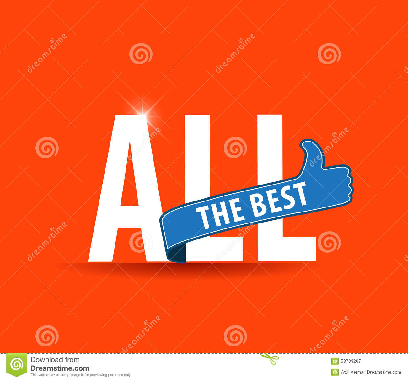 All The Best Motivational Graphic For Best Wishes Good Luck Stock