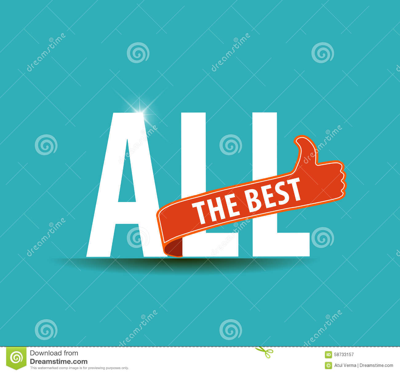 All the best motivational graphic for best wishes stock for All the very best images