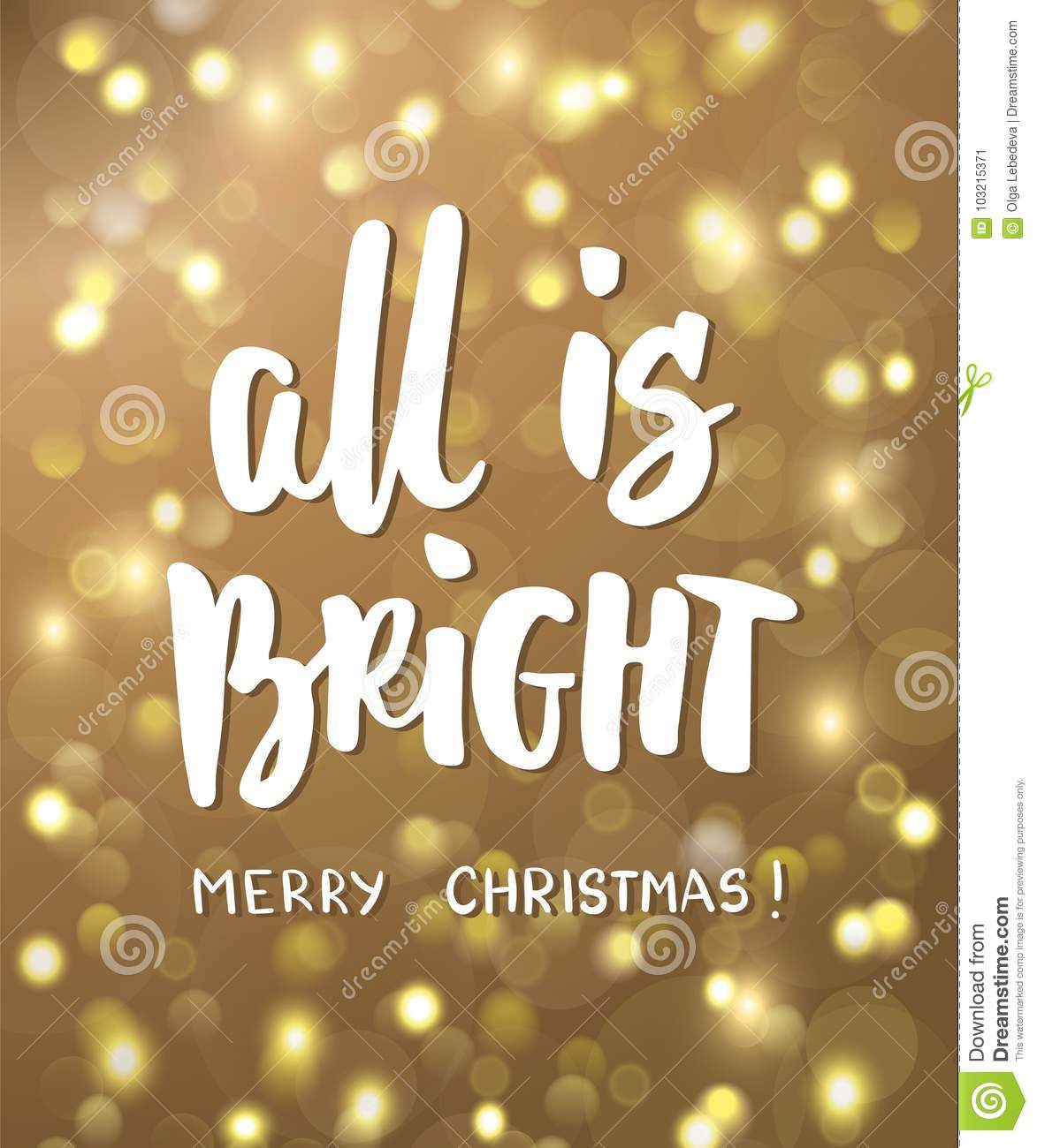 All is bright merry christmas text golden glowing lights download all is bright merry christmas text golden glowing lights background holiday greetings m4hsunfo