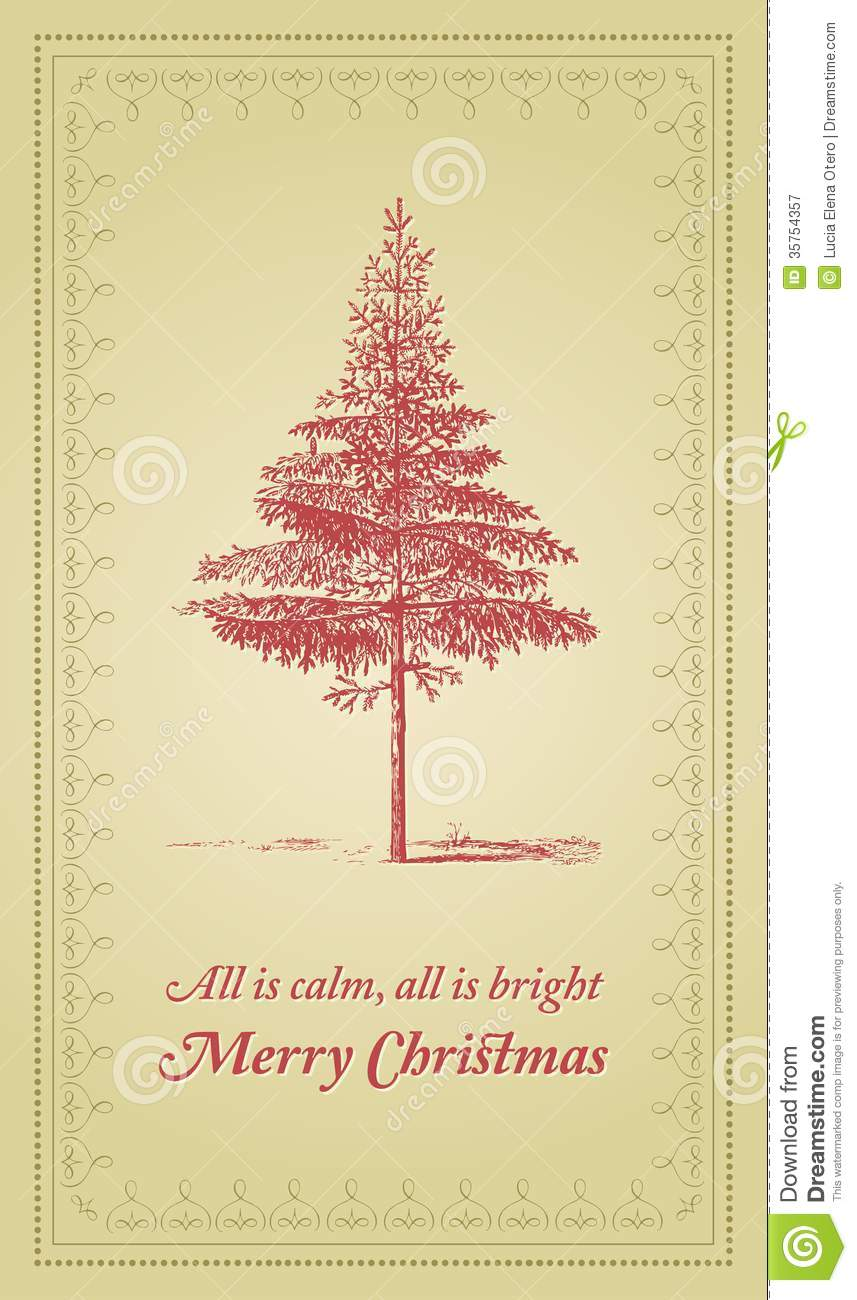 All is calm, All is bright - Christmas card