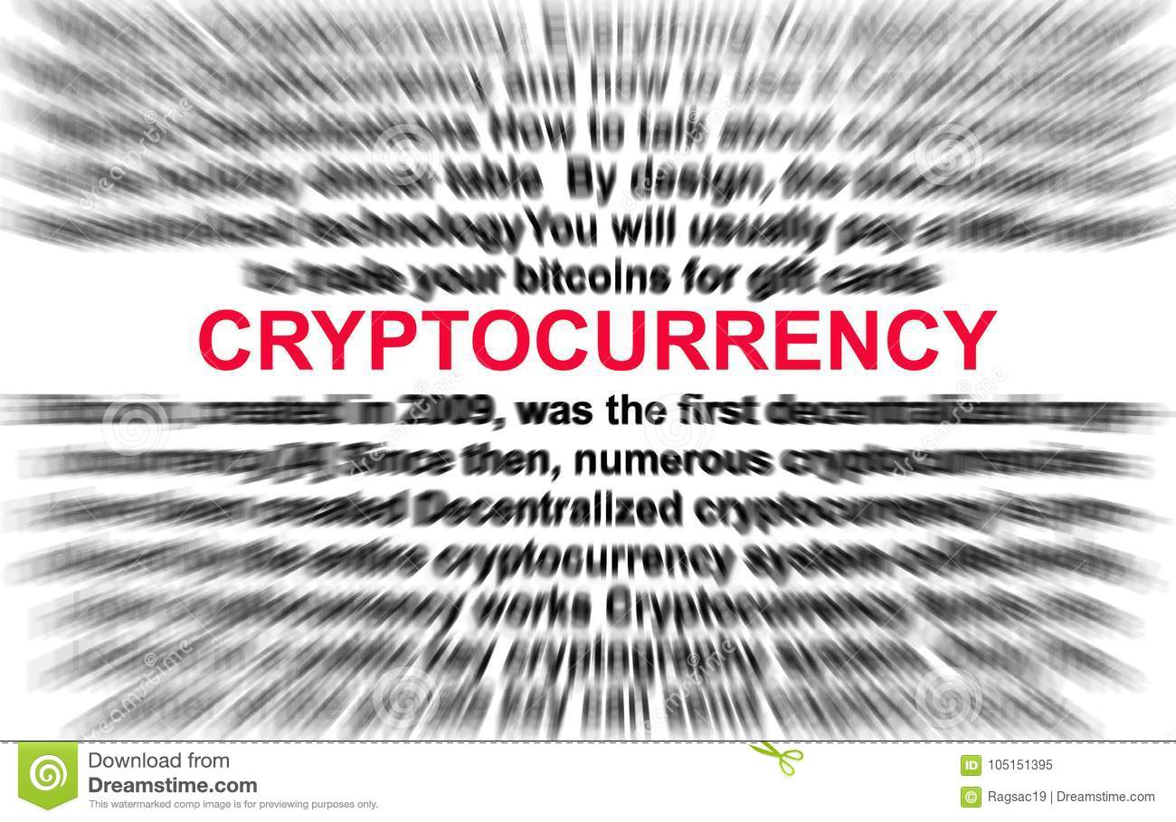 All about cryptocurrency bitcoin concept stock illustration all about cryptocurrency bitcoin concept apply radial blur to the definition of cryptocurrency ccuart Gallery