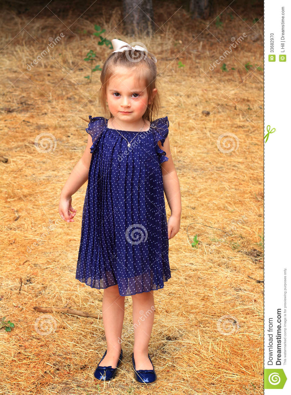 Unique Girl Dressed Up As Dorothy From Oz Royalty Free Stock Photography