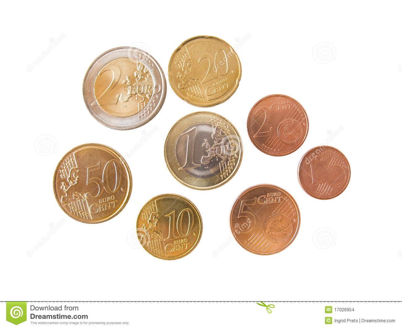 All Euro Coins Stock Images - Image: 17026954