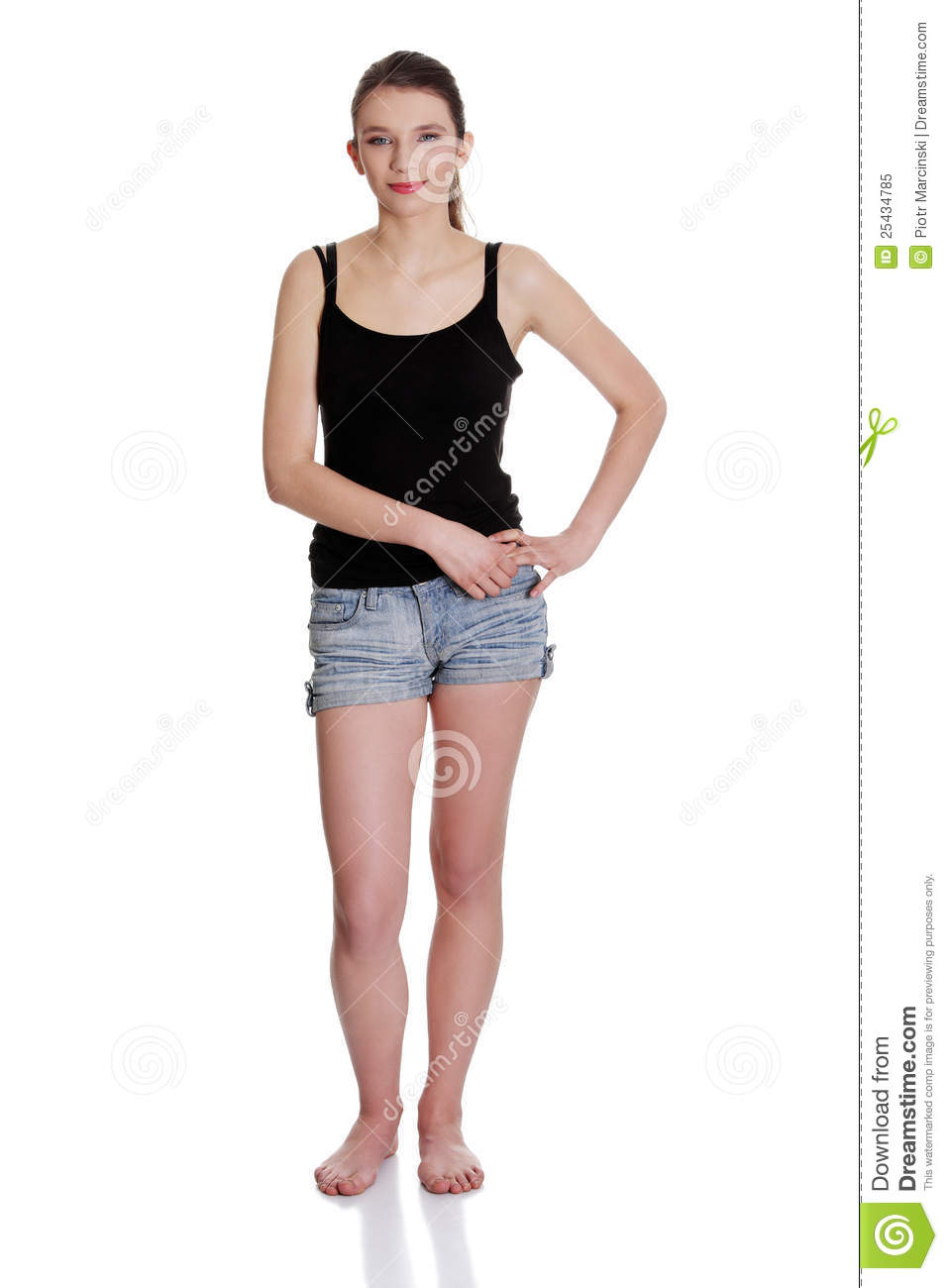 All Figure Of The Young Woman In Informal Dress. Stock Image - Image ... c25c99d0c